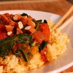 Vegan Coconut Curry with Spinach over Millet