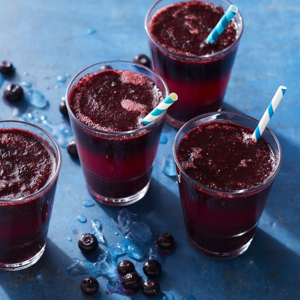 Blueberry Lemonade Slushies Carolyn Casner