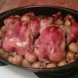 Slow Drunk Roasted Chicken