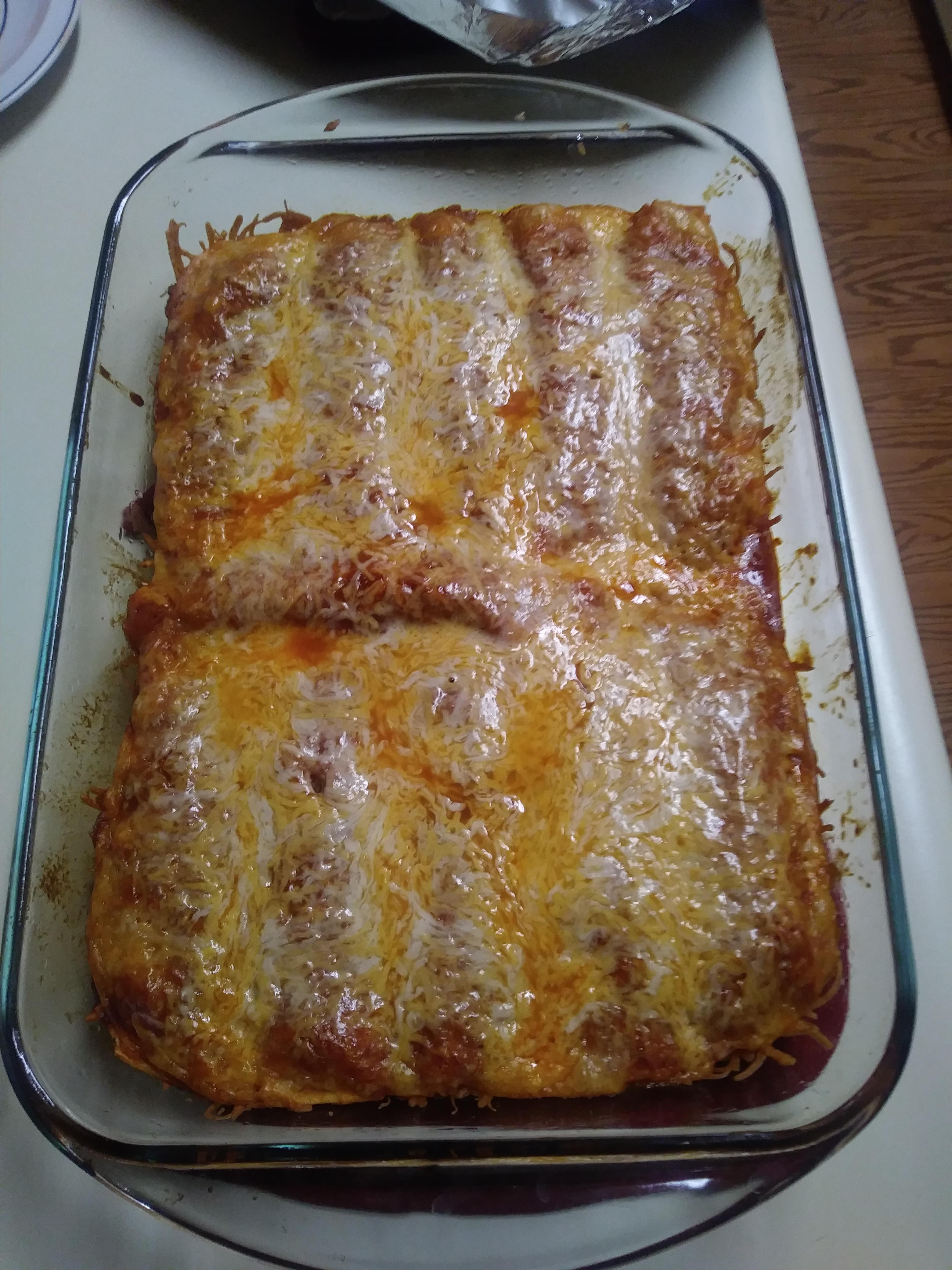 Refried Bean and Cheese Enchiladas Queen Sweet Pea