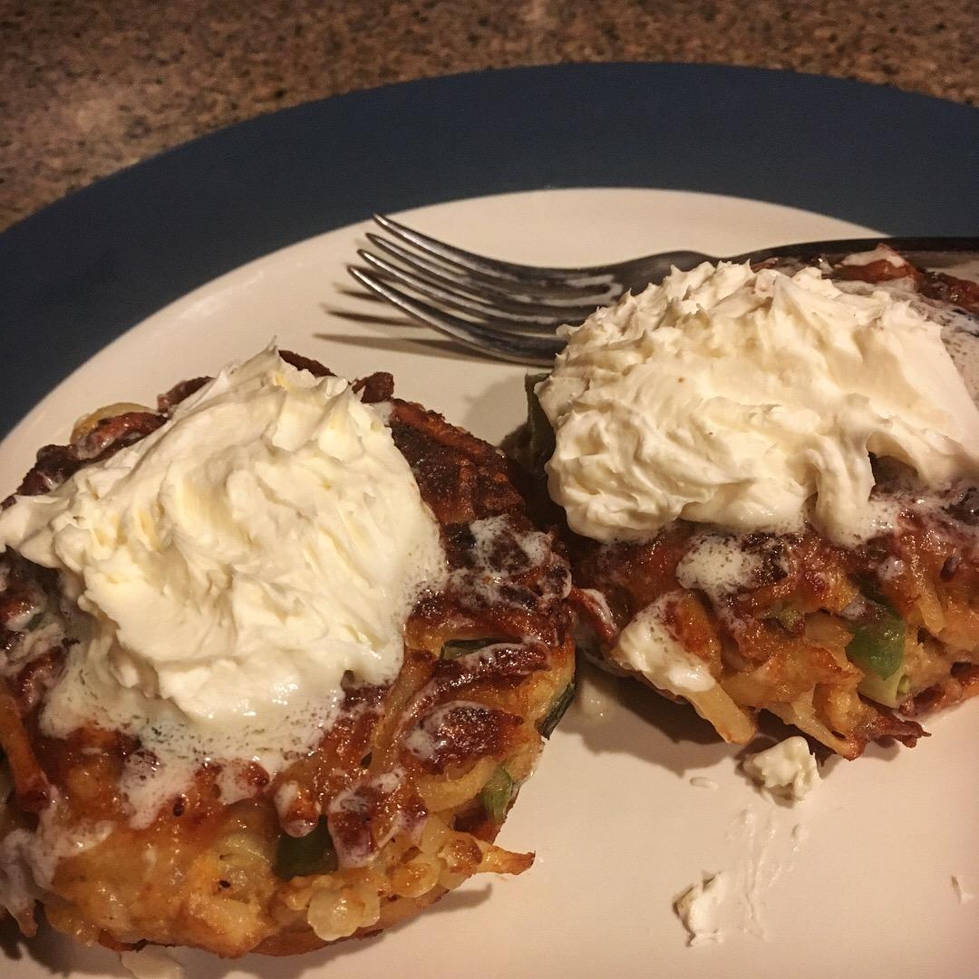 Shredded Potato Salmon Cakes Chris Sowerwine