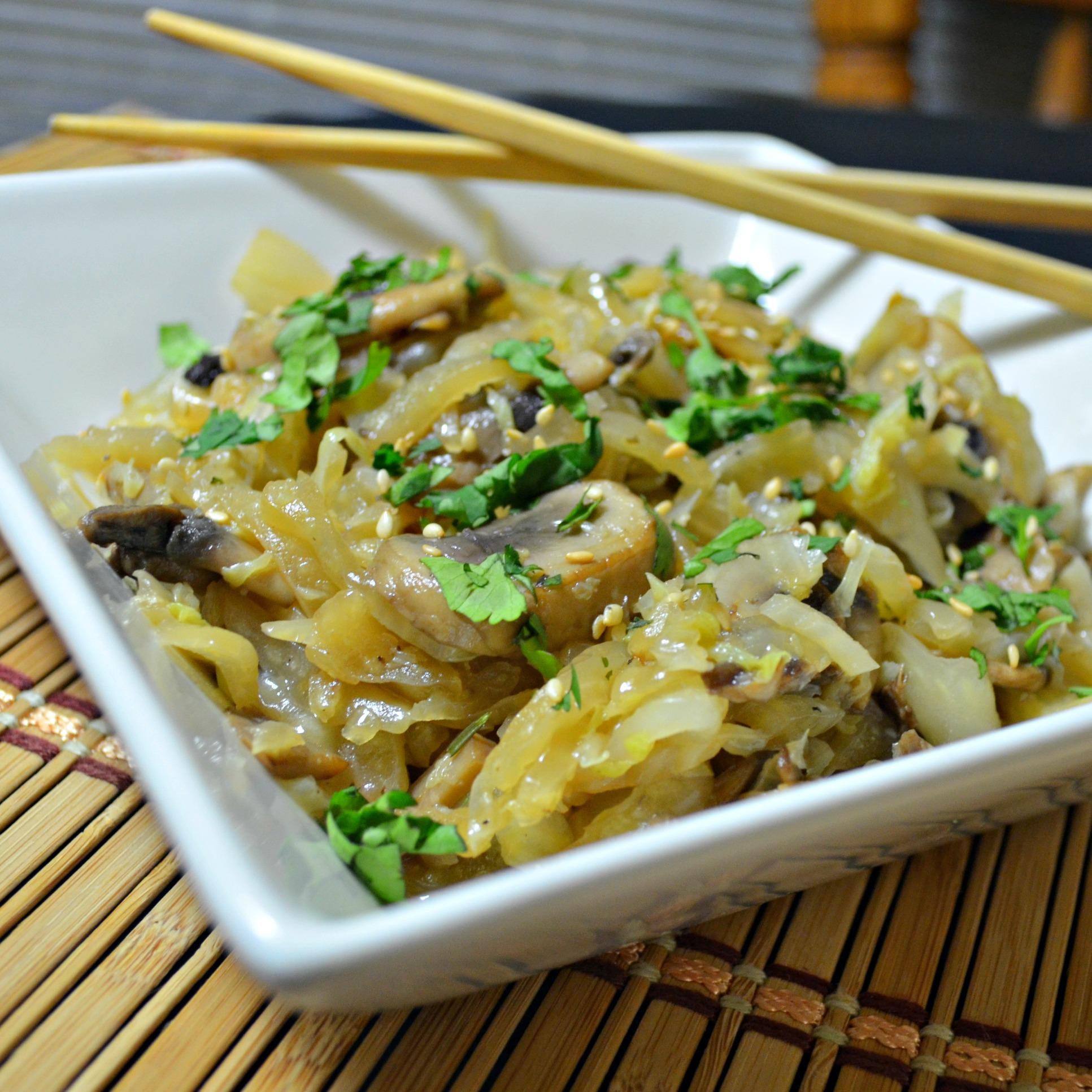 Sesame Cabbage and Mushrooms