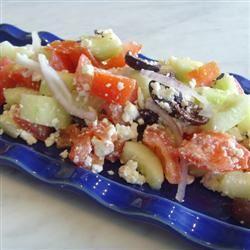 Mediterranean Greek Salad ScandoGirl