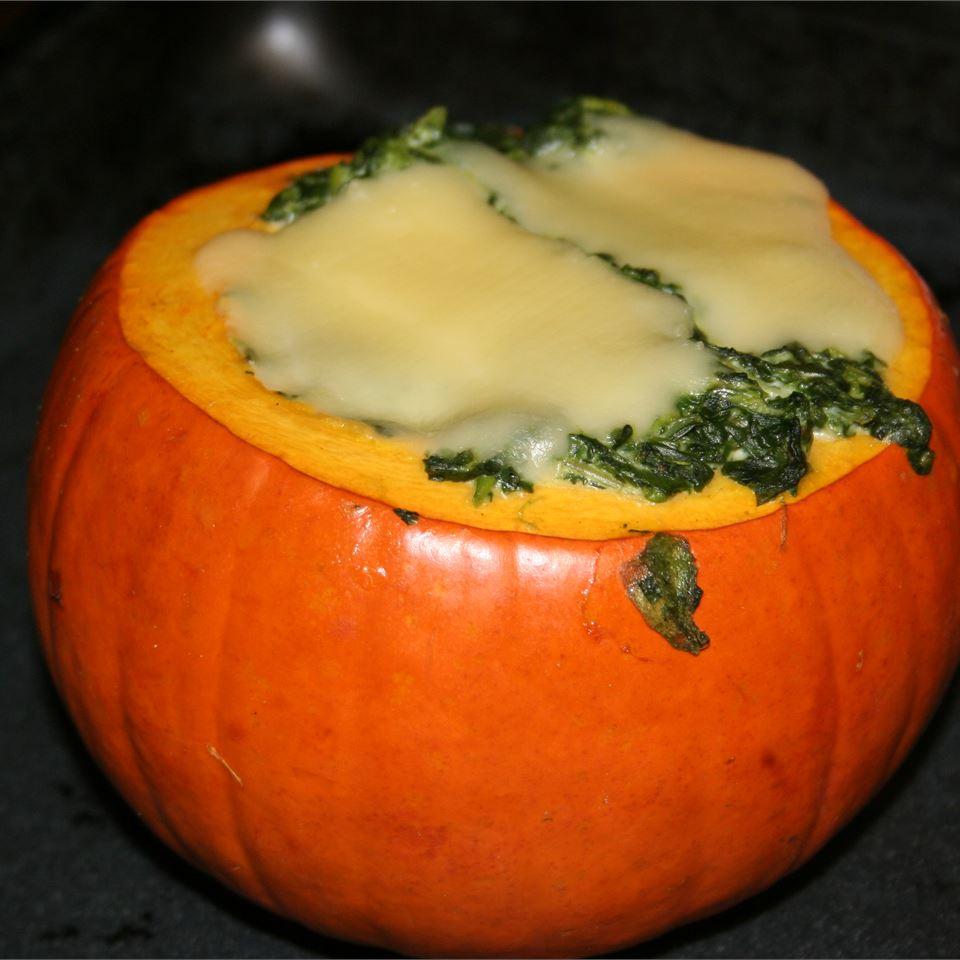 Spinach-Stuffed Pumpkins