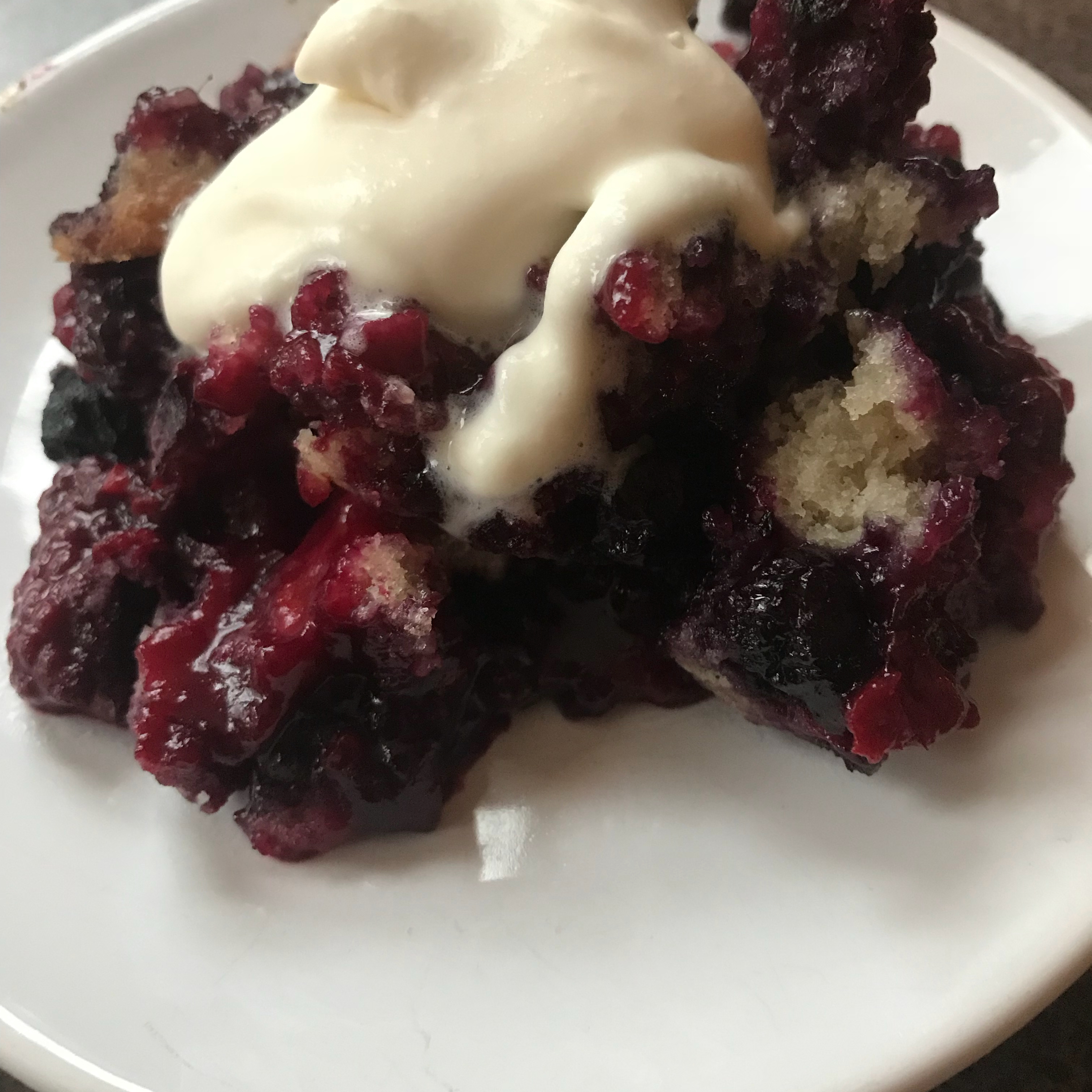 Easy Batter Fruit Cobbler