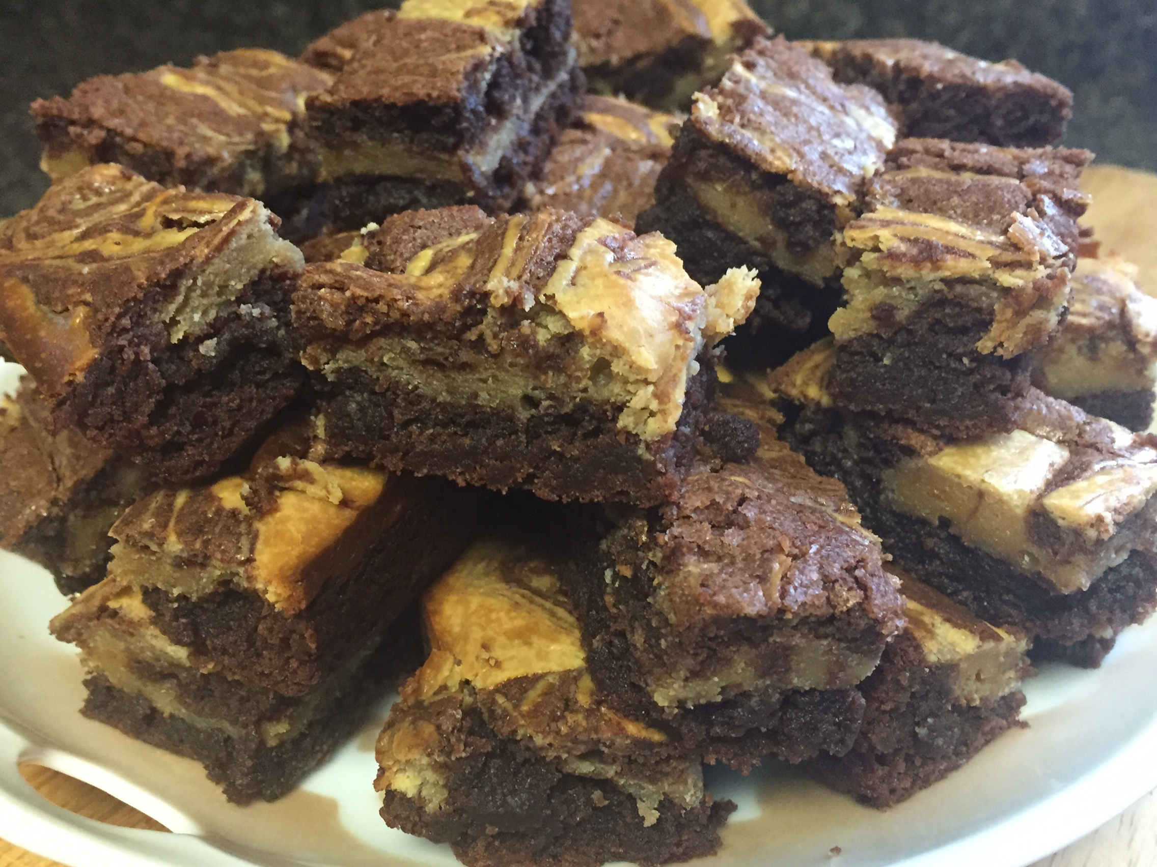Michelle's Peanut Butter Marbled Brownies Rickalyn