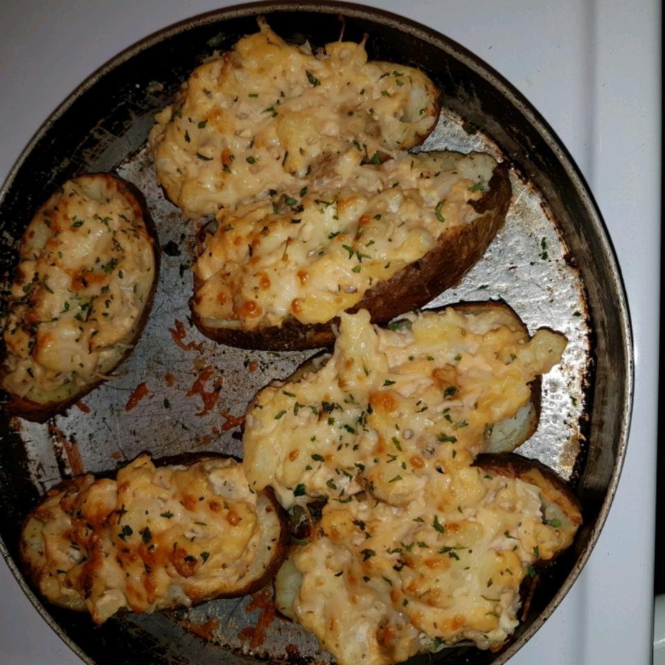 Buffalo Chicken Twice-Baked Potatoes NoniJuce Shropshire