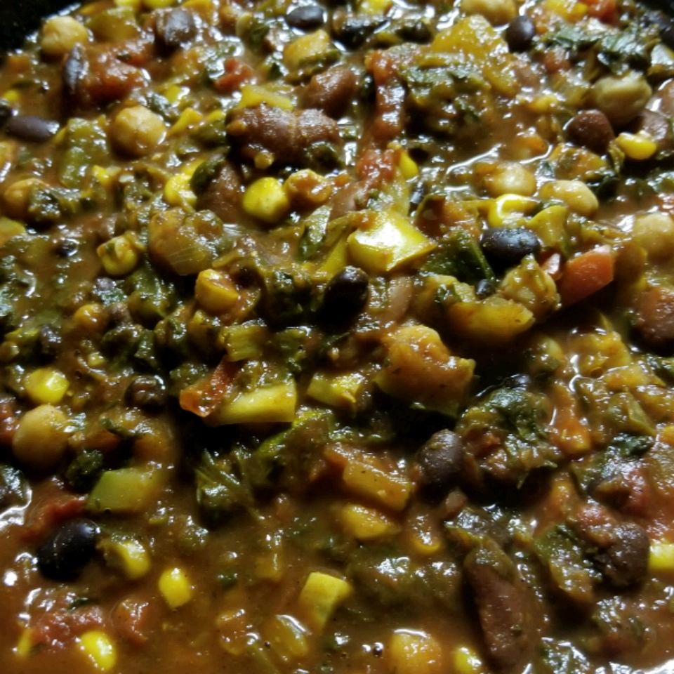 Hearty Vegan Slow-Cooker Chili