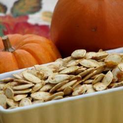 Savory Toasted Pumpkin Seeds mominml