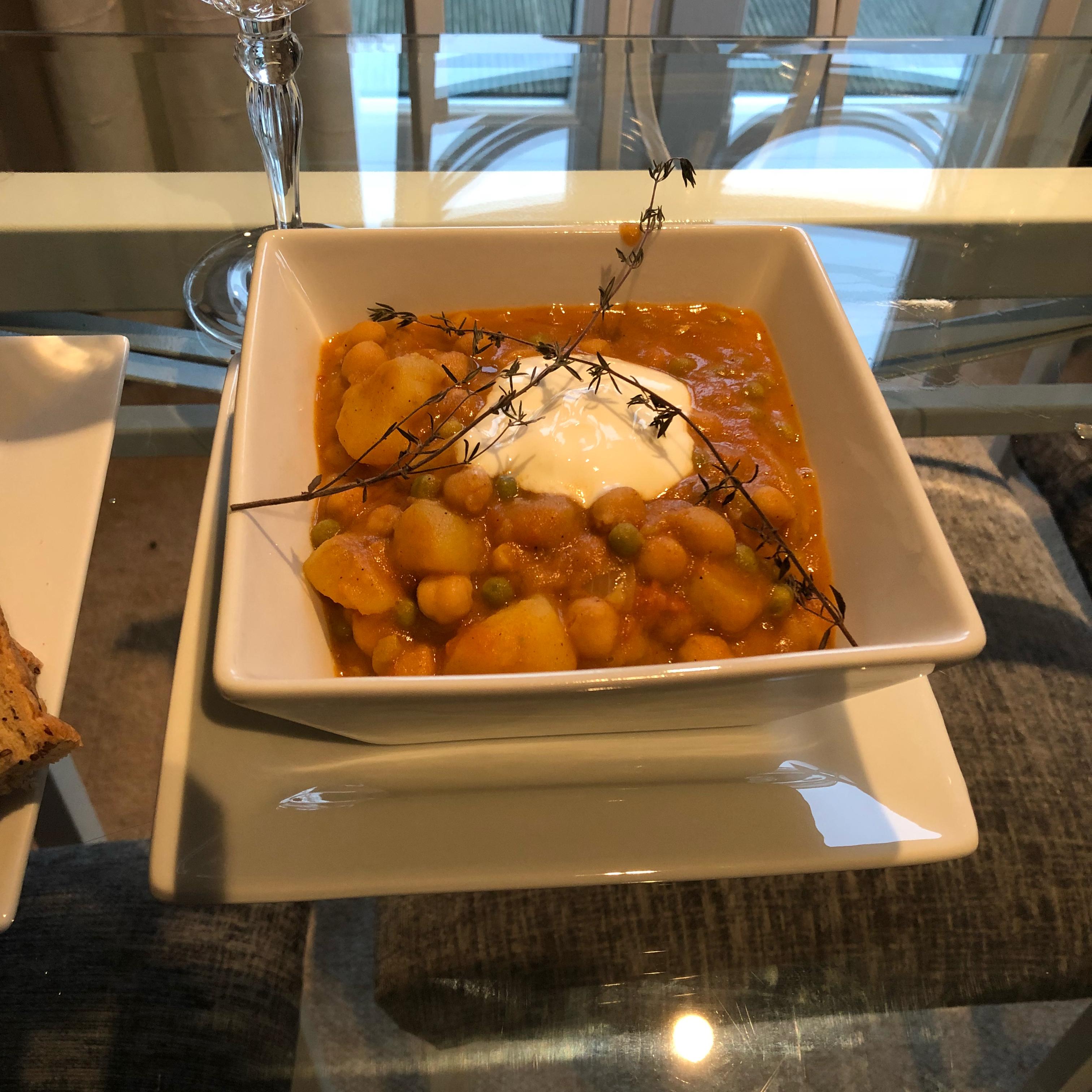 Spicy Vegan Potato Curry Sean-Jordan Baruch