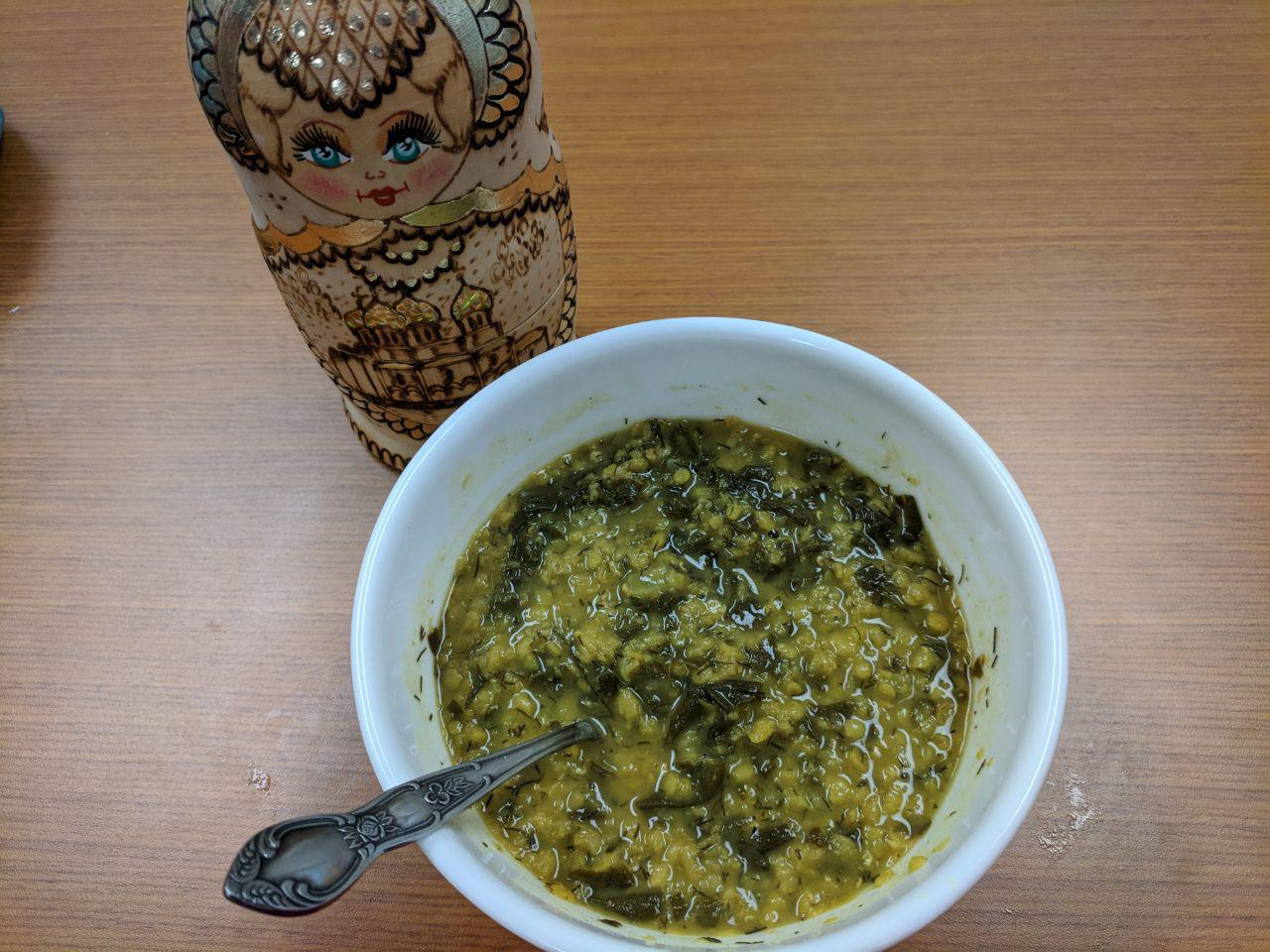 Fragrant Red Lentil and Rainbow Chard Soup