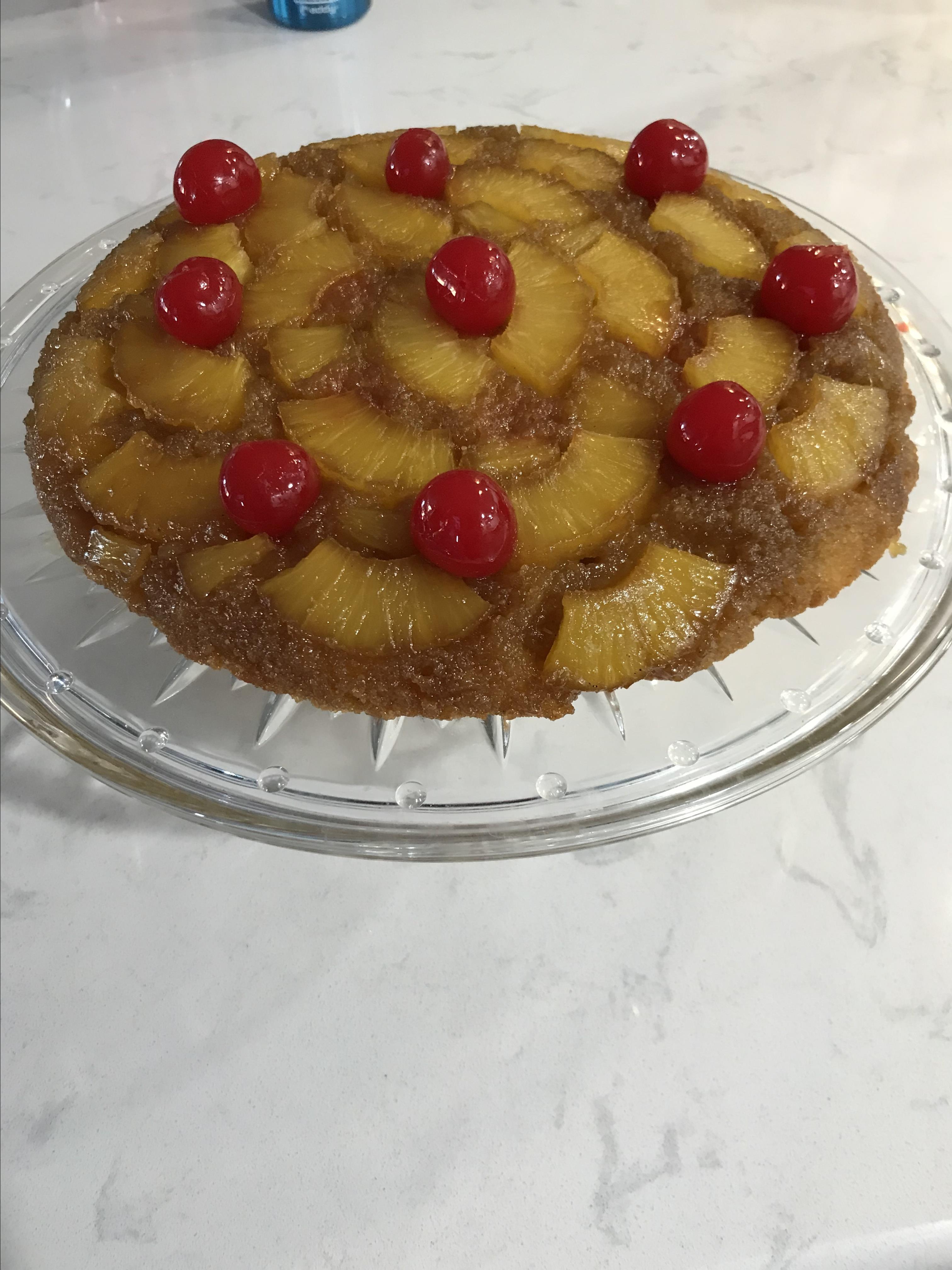 Pineapple Upside-Down Cake (Gluten Free) corbettcook