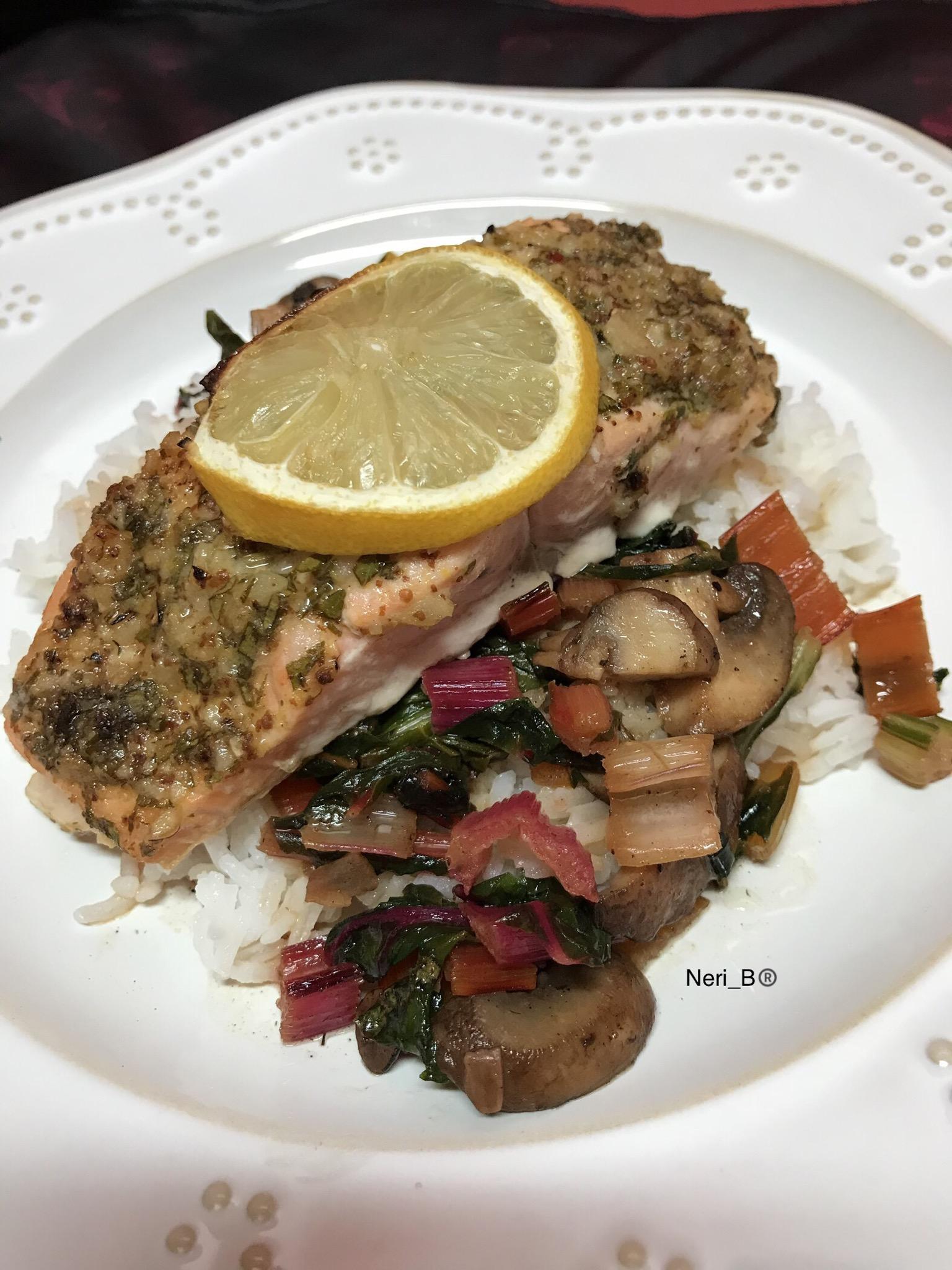 Dijon Garlic Salmon foodie03