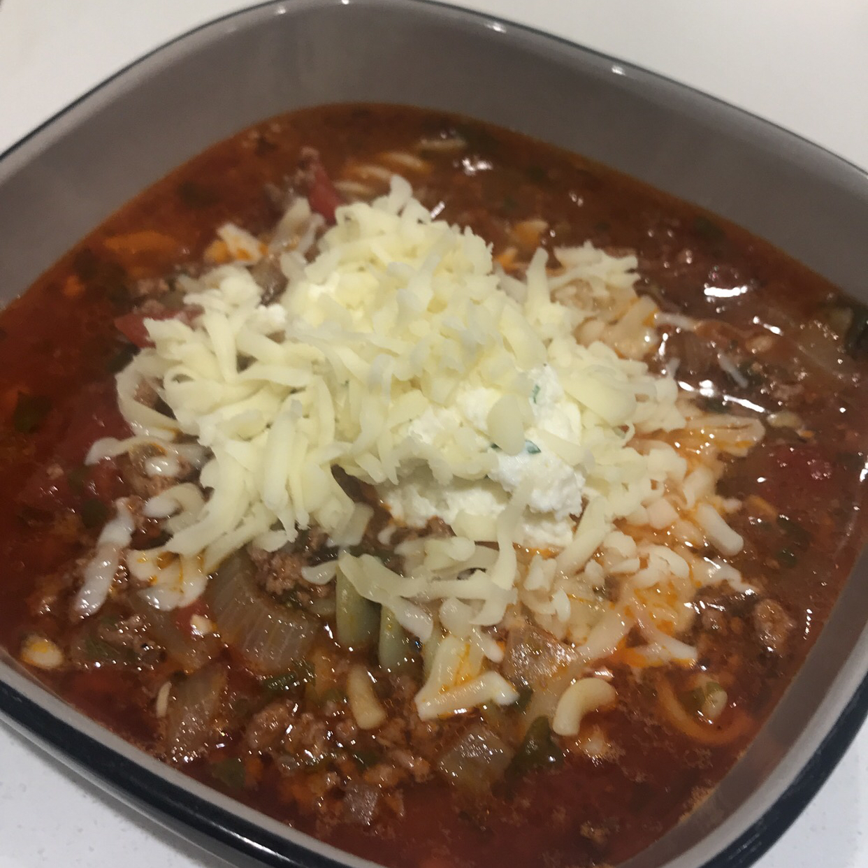 Lasagna Soup with Cheesy Yum Vasilia Tomari