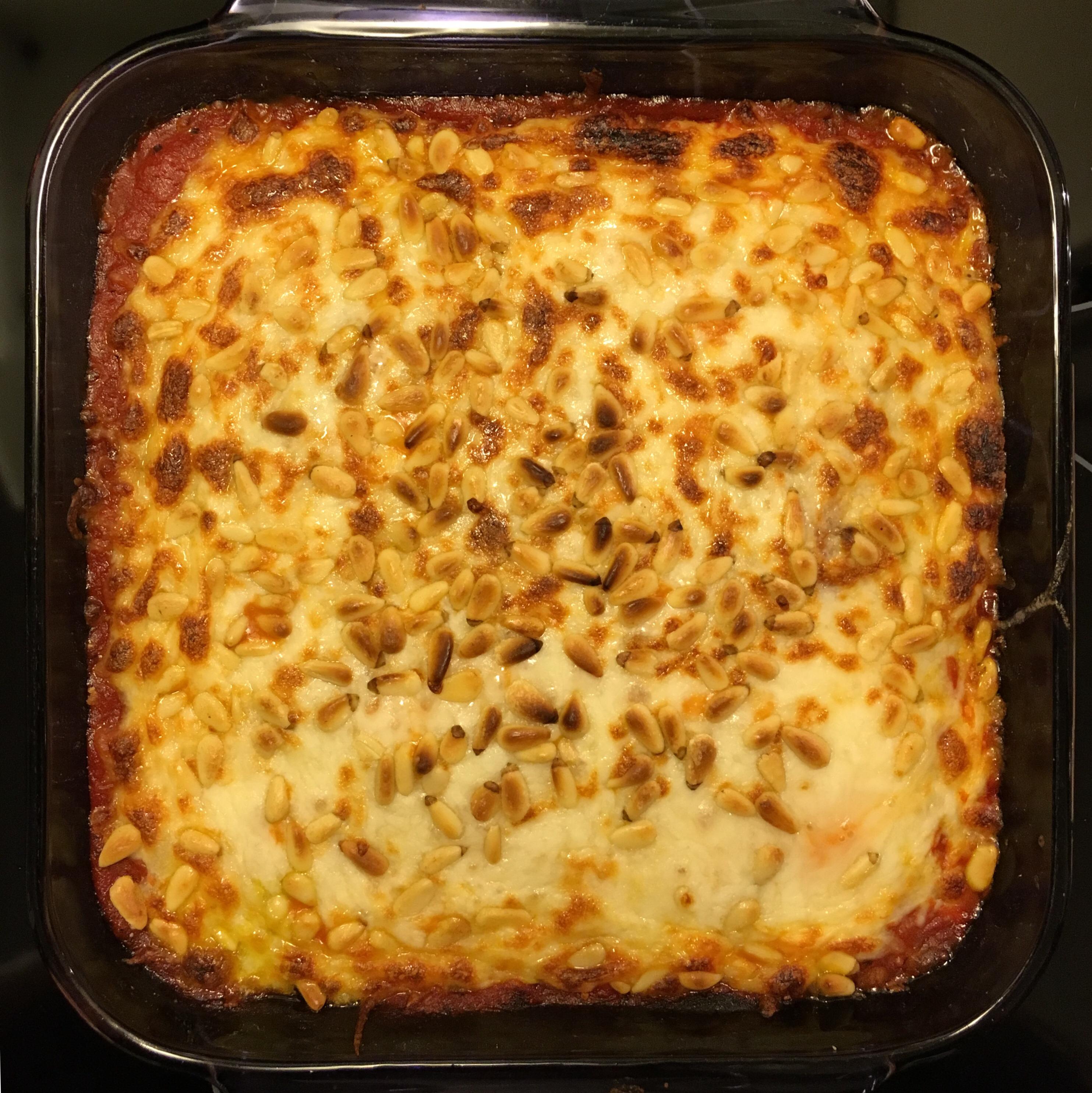 Pesto Polenta Lasagna Crowmish