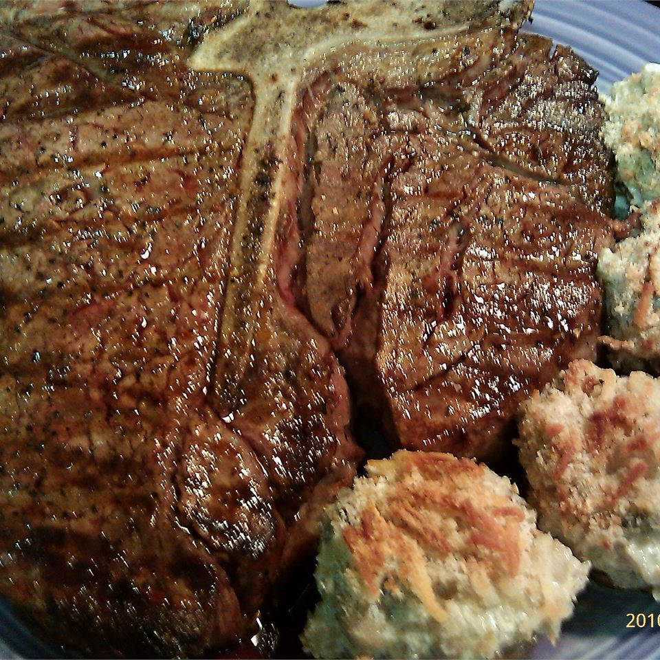 """This flagship Tuscan steak is made from the region's Chianina breed of cattle which are prized for their tenderness and flavor,"" says eat!. ""In typical Italian style, simplicity rules the day; little more than olive oil, rosemary, and salt are needed to highlight the rich flavor of the grilled meat. With Italian food, freshness and quality are top priority, so I use nothing less than choice porterhouse, and much prefer prime!"""