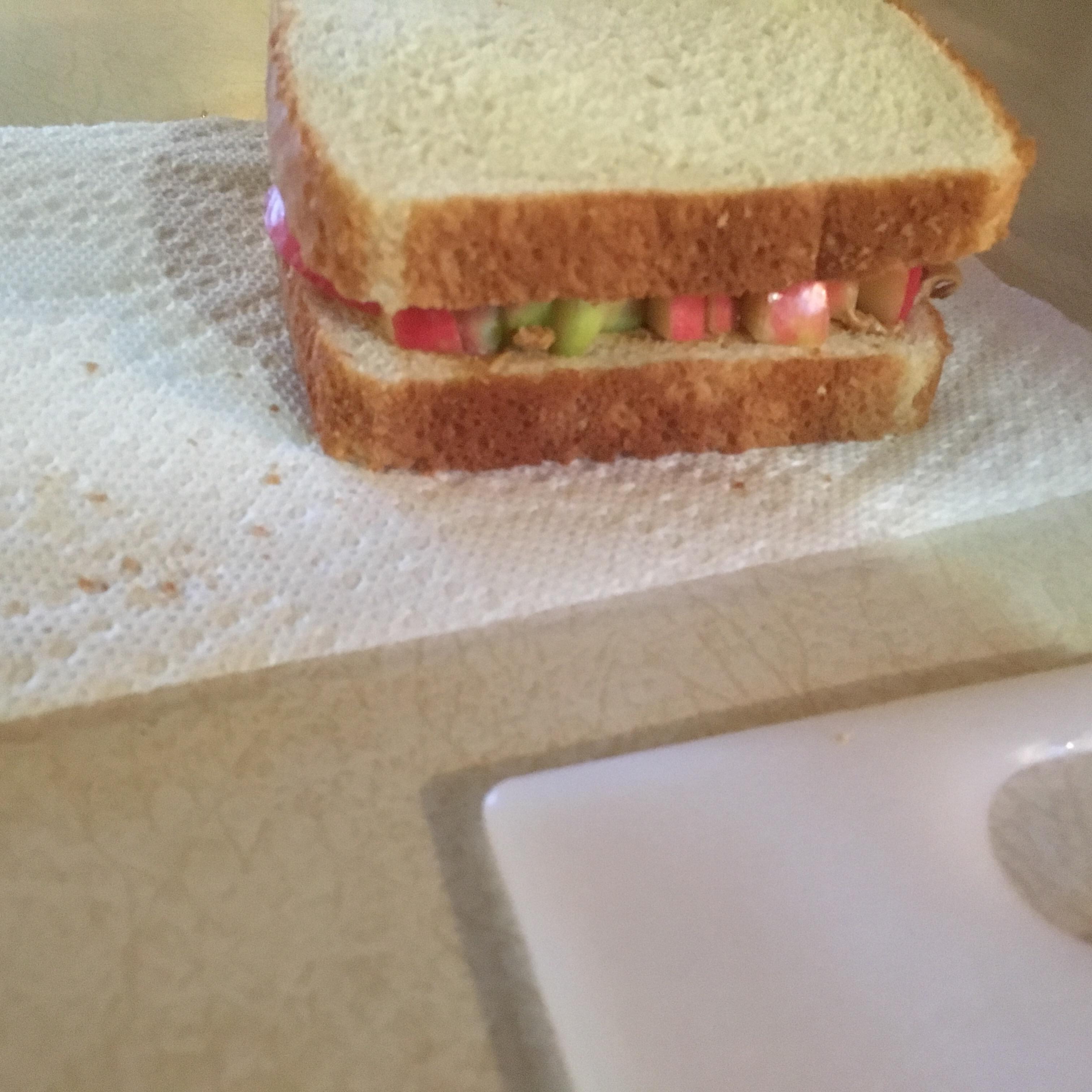 Peanut Butter and Apple Sandwich Brock13