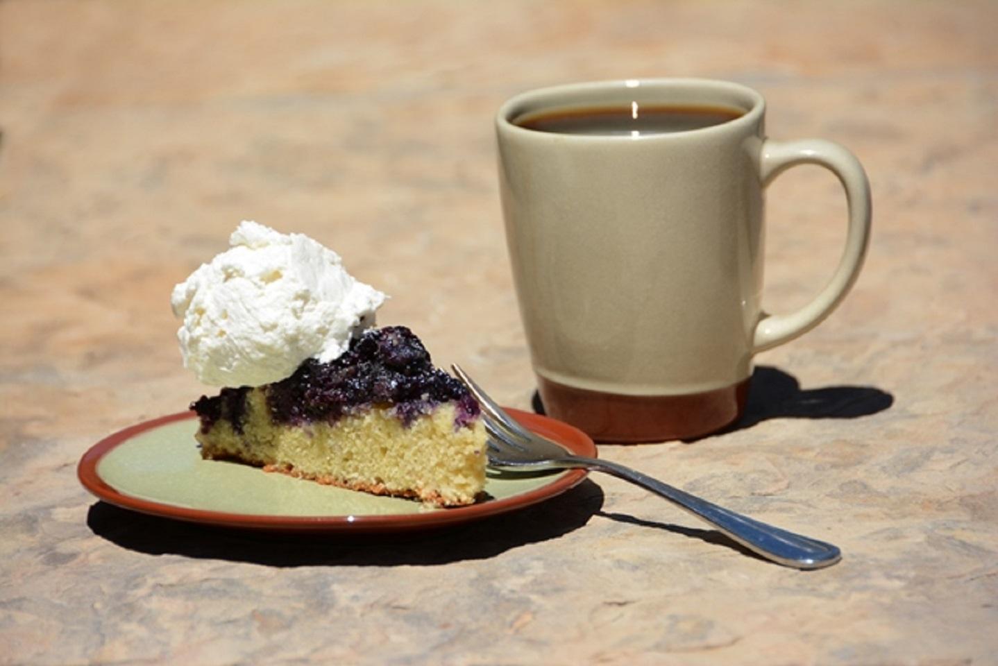 Blueberry Cornmeal Upside-Down Cake
