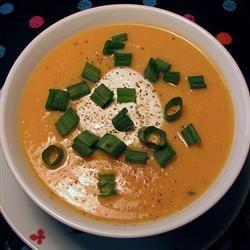 Spiced Butternut Squash Soup Pansy