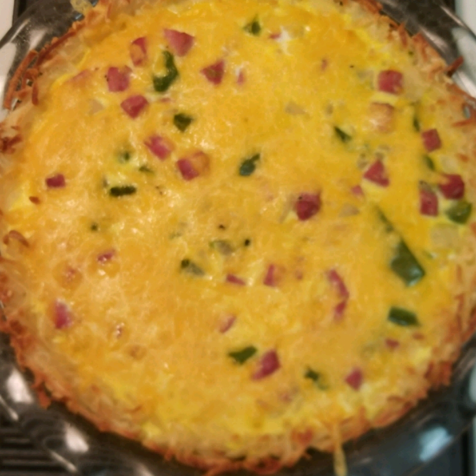 Ham and Hash Brown Quiche TWILA