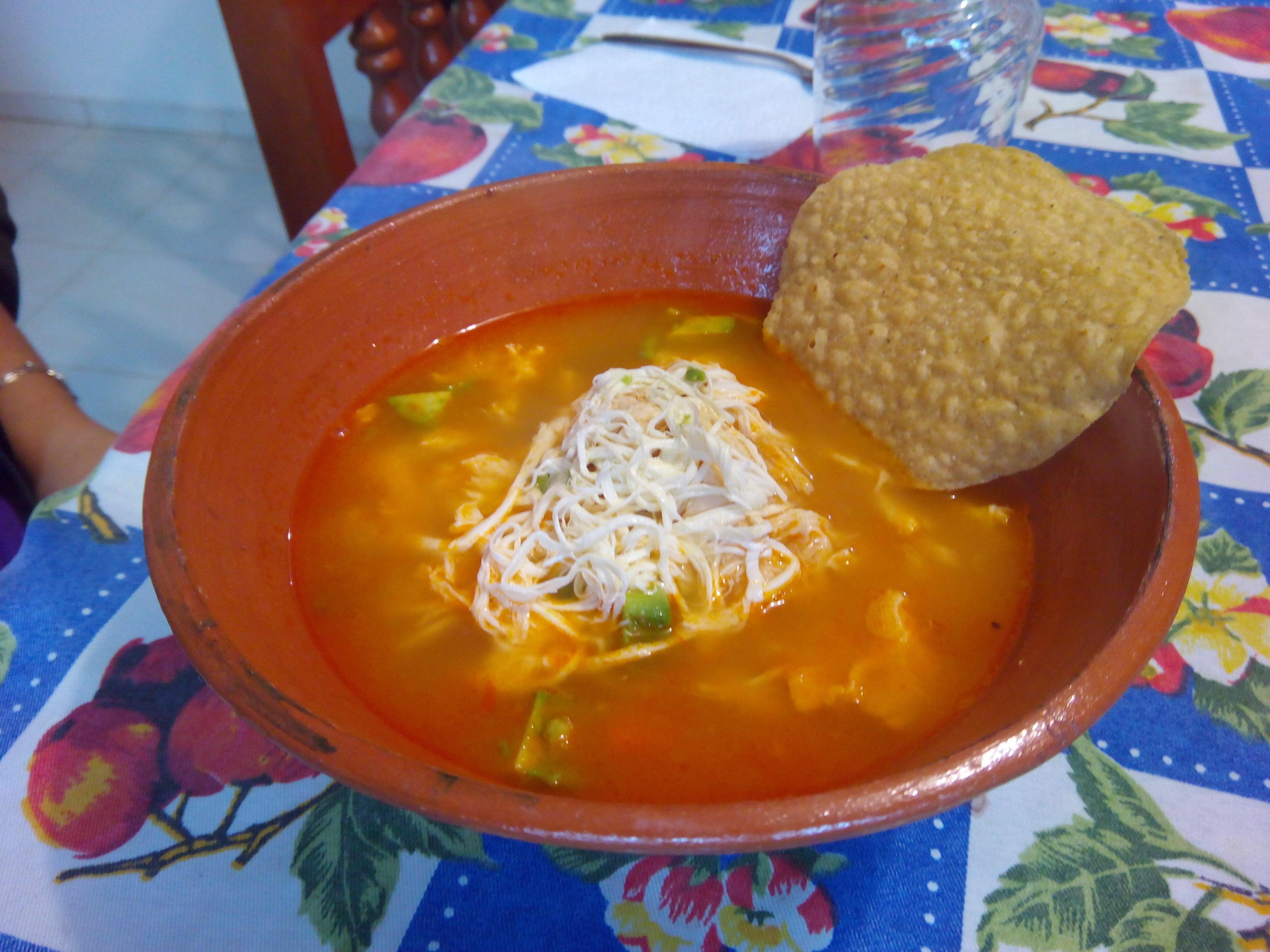 Mexican Chicken Soup with Garbanzo Beans (Caldo Tlalpeno)