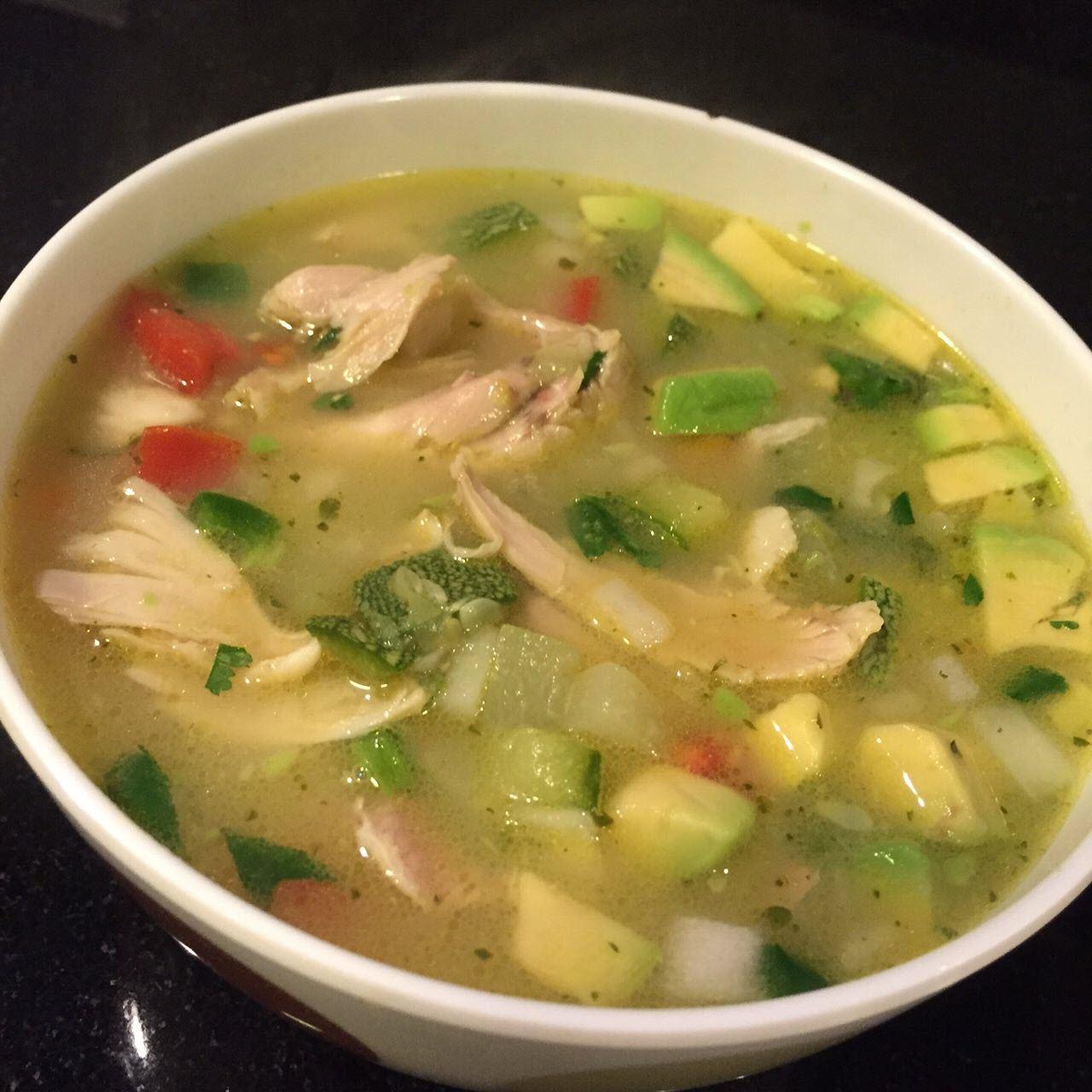 Mexican Chicken and Rice Soup (Sopa de Pollo y Arroz)