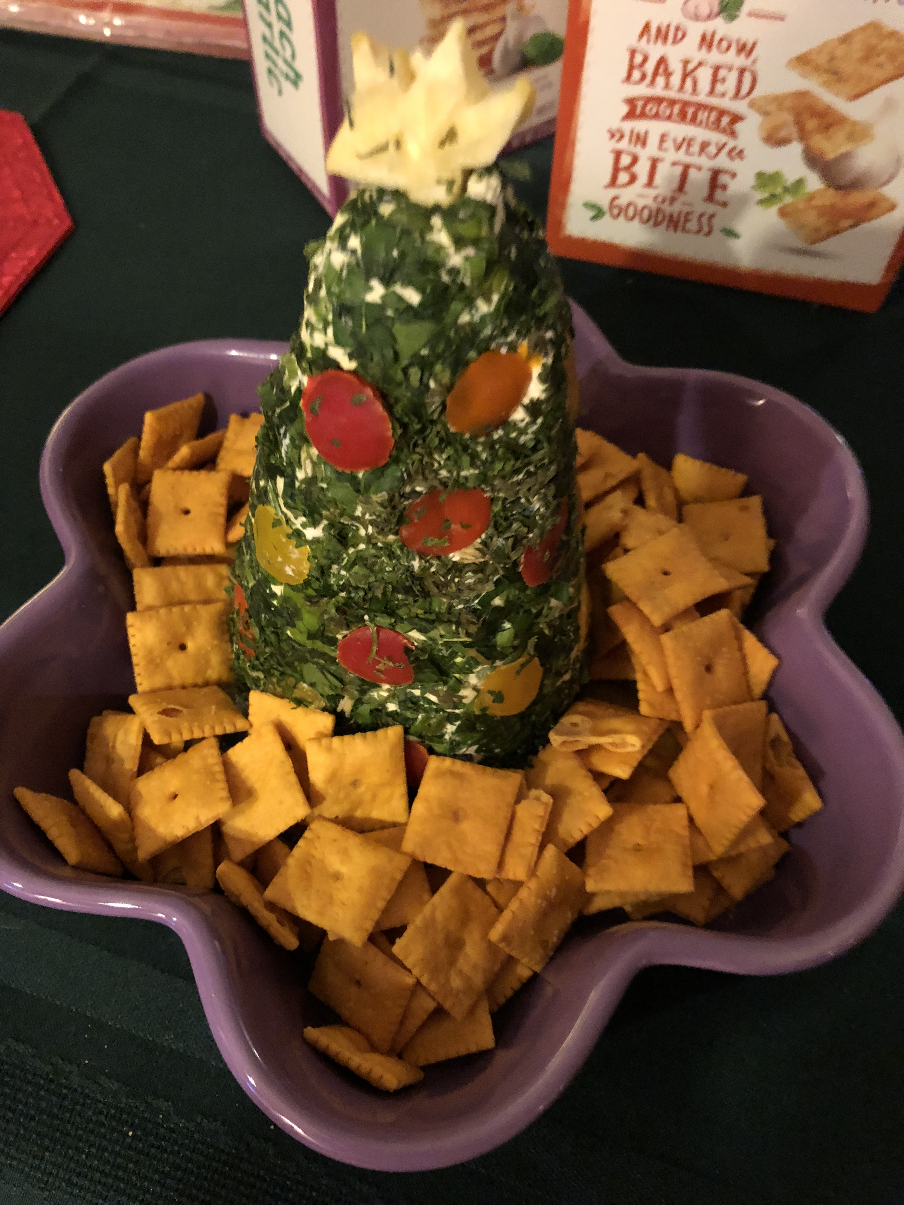 Cream Cheese, Havarti, and Parmesan Herbed Christmas Tree Julie Lowe