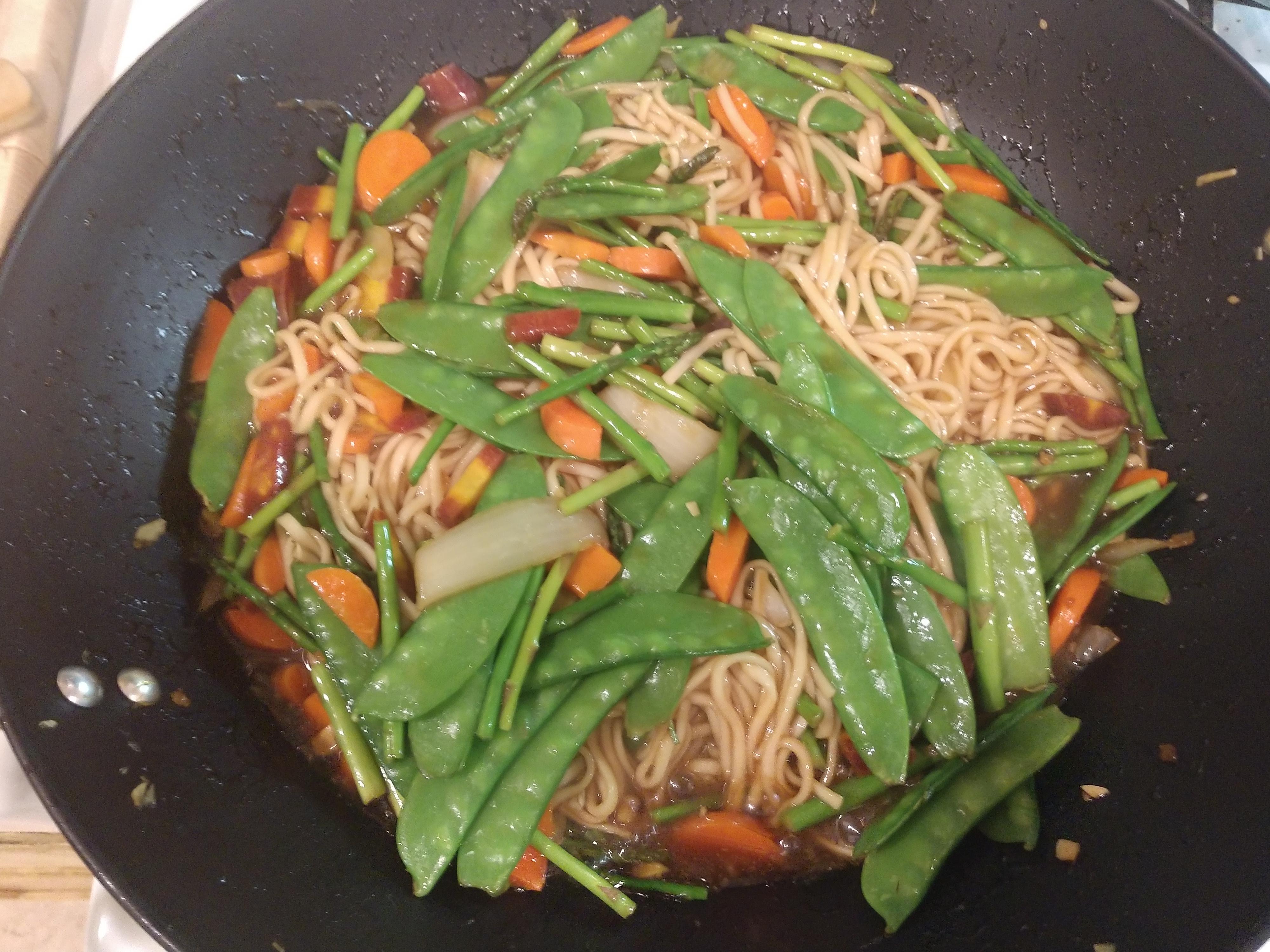 Udon Noodle Stir-Fry