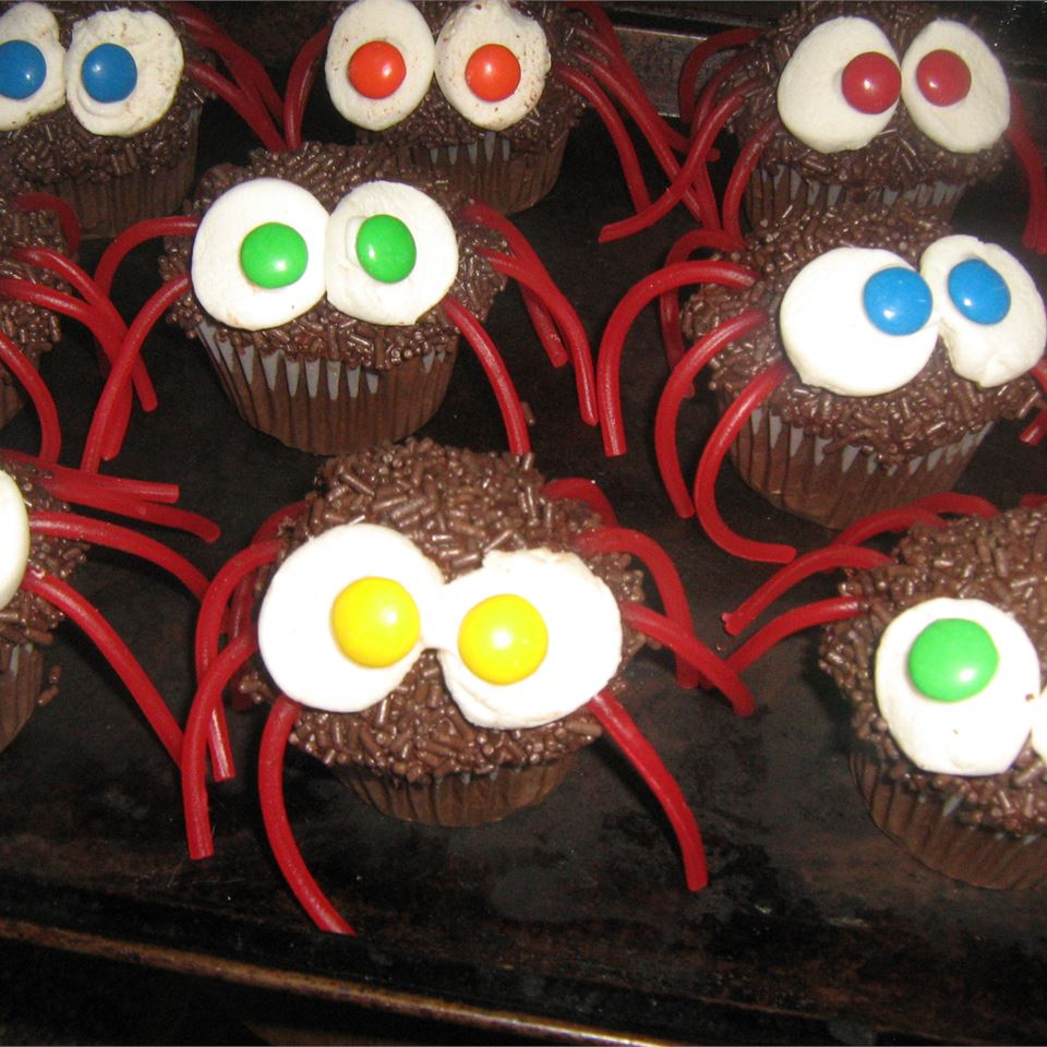 Spider Cupcakes Judy Cowan