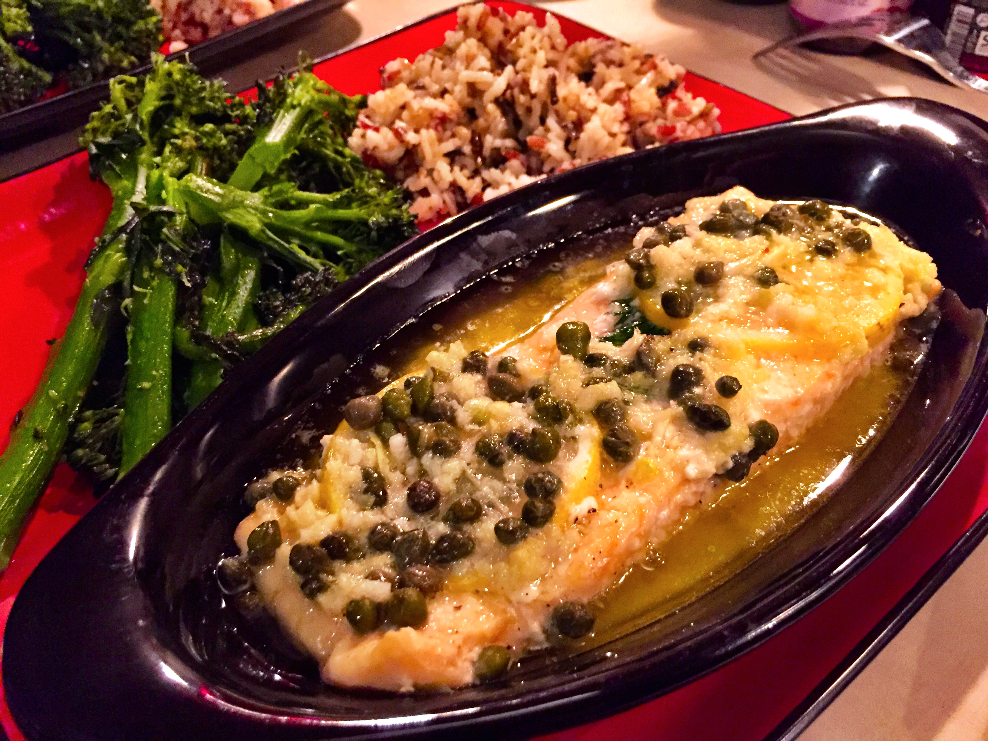Dave's Baked Salmon with Garlic-Butter Sauce