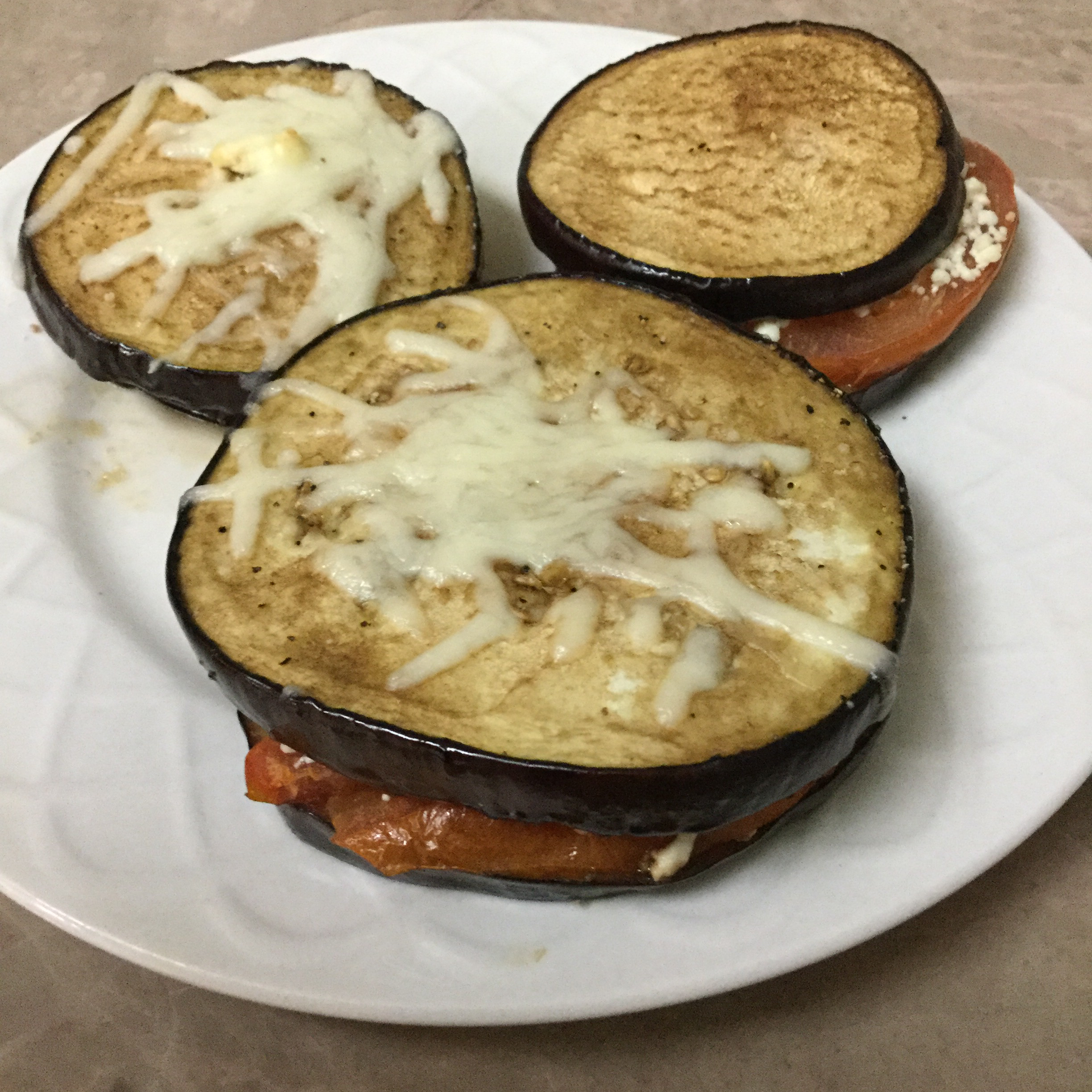 Grilled Eggplant, Tomato and Goat Cheese Lorena Tamez