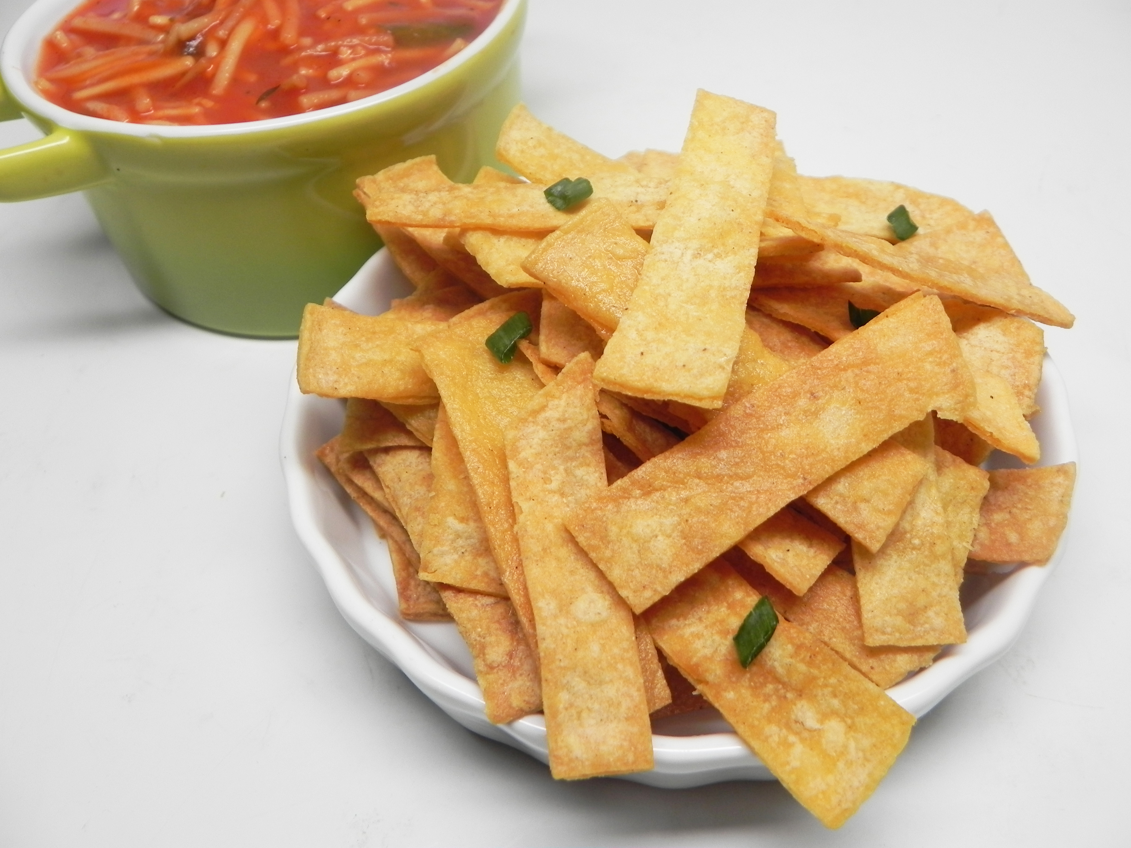 Baked Corn Tortilla Strips for Mexican Soups Soup Loving Nicole