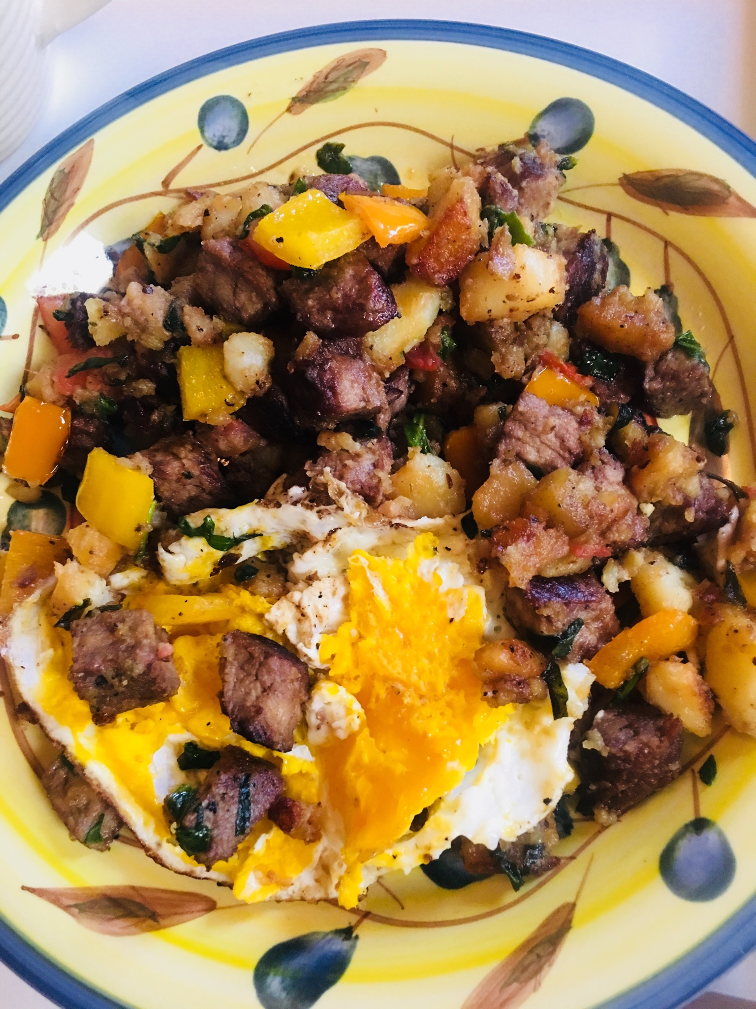 Steak and Egg Hash Latinamaminnyc