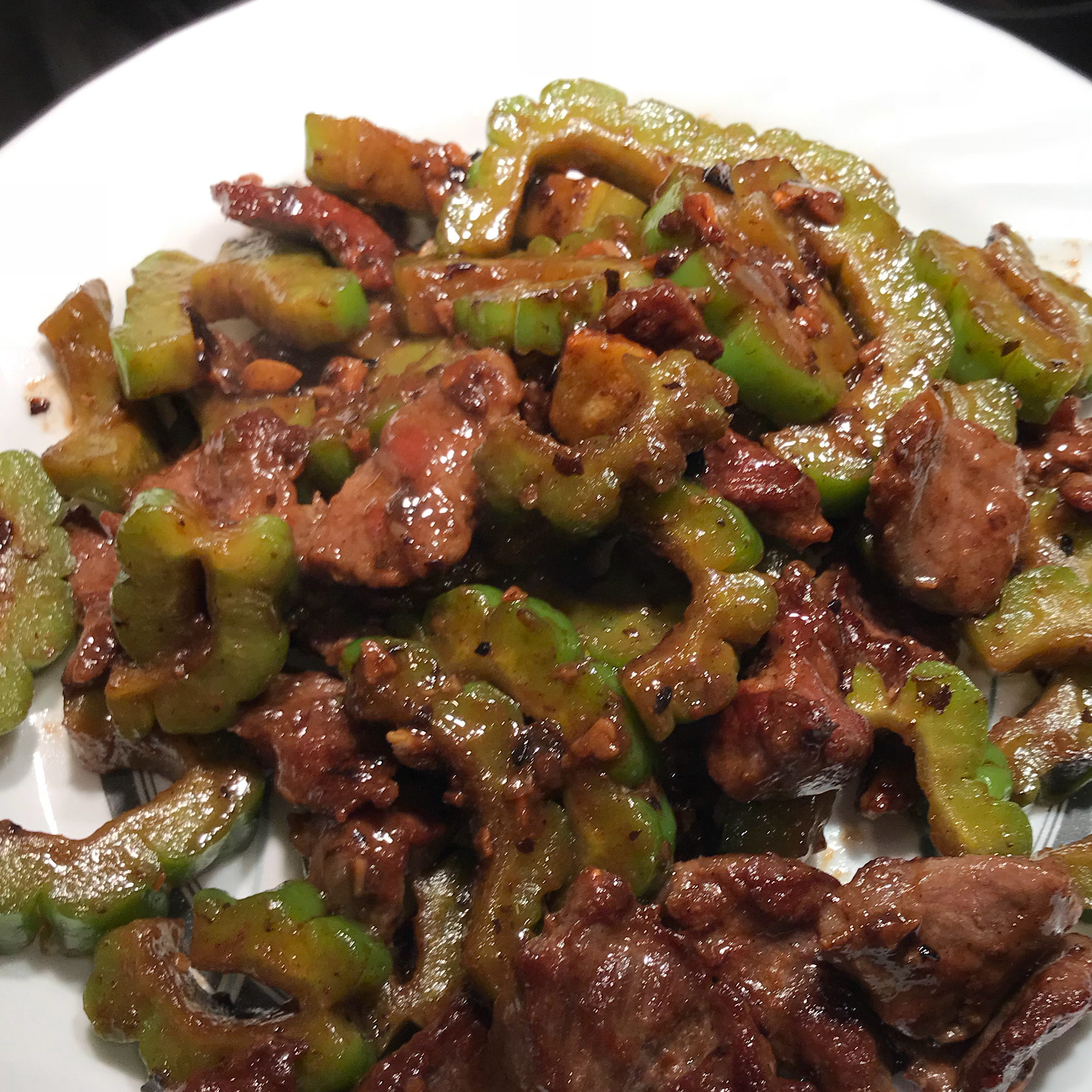 Bitter Melon and Black Bean Sauce Beef