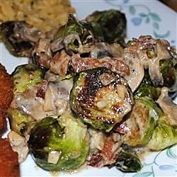 brussels sprouts in a sherry bacon cream sauce recipe