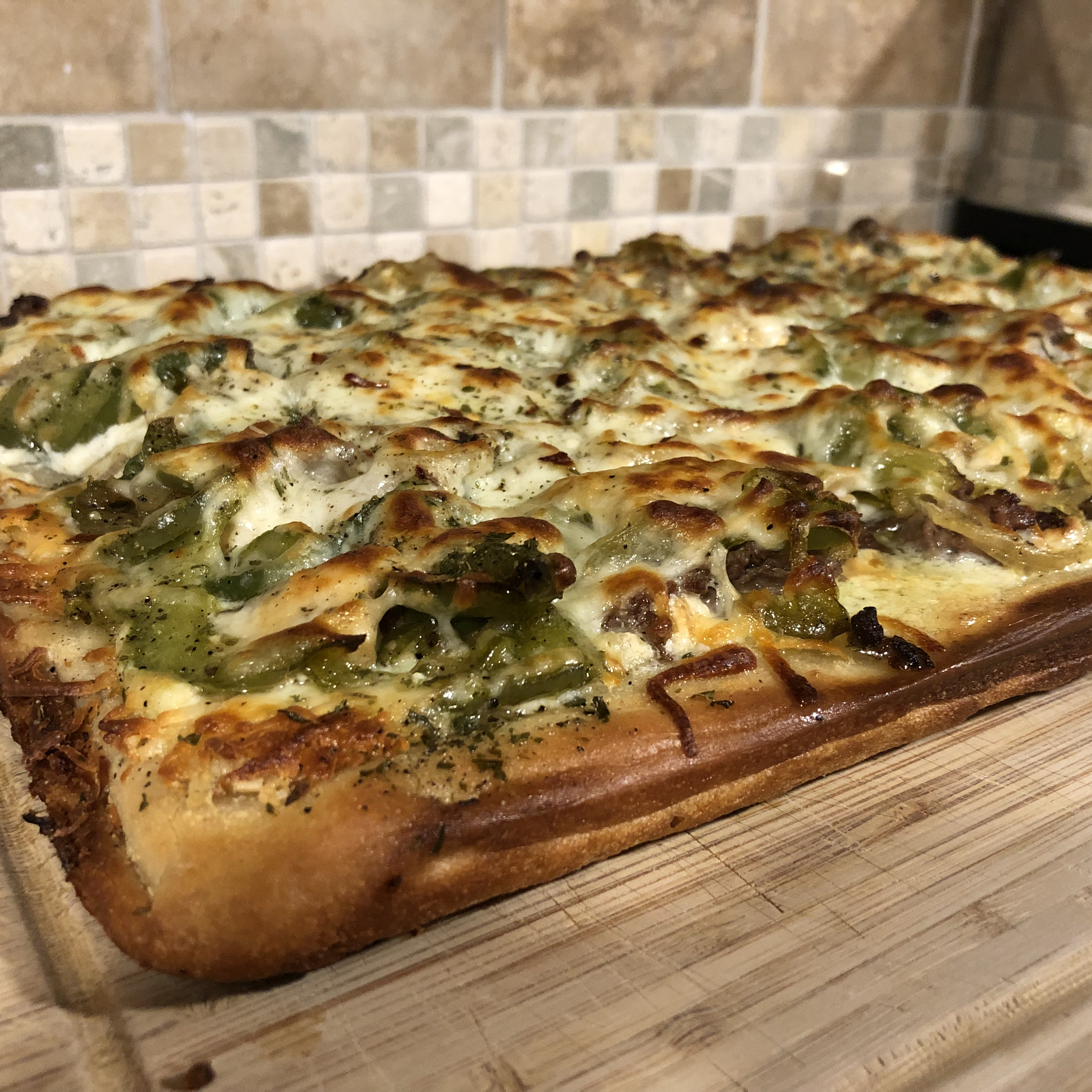 Easy Philly Cheese Steak Pizza StaceyL428