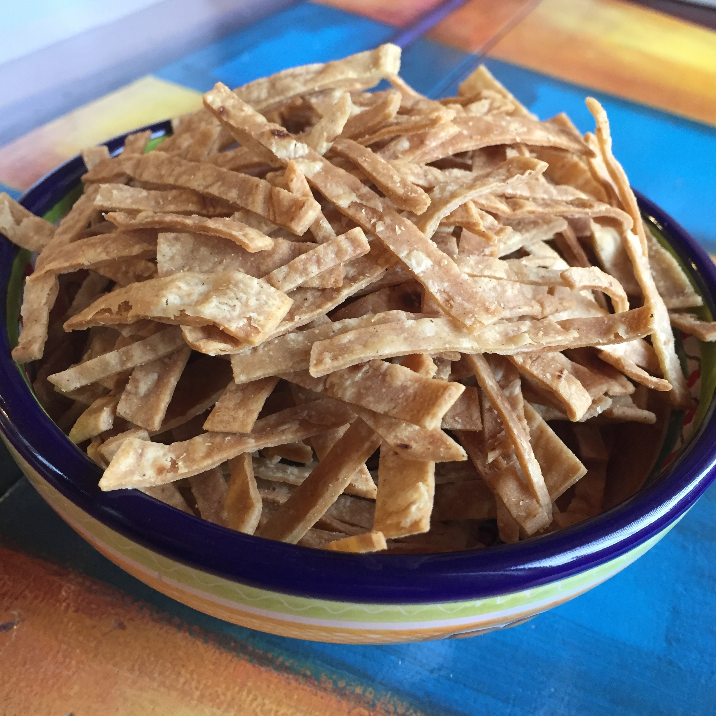 Baked Corn Tortilla Strips for Mexican Soups gem