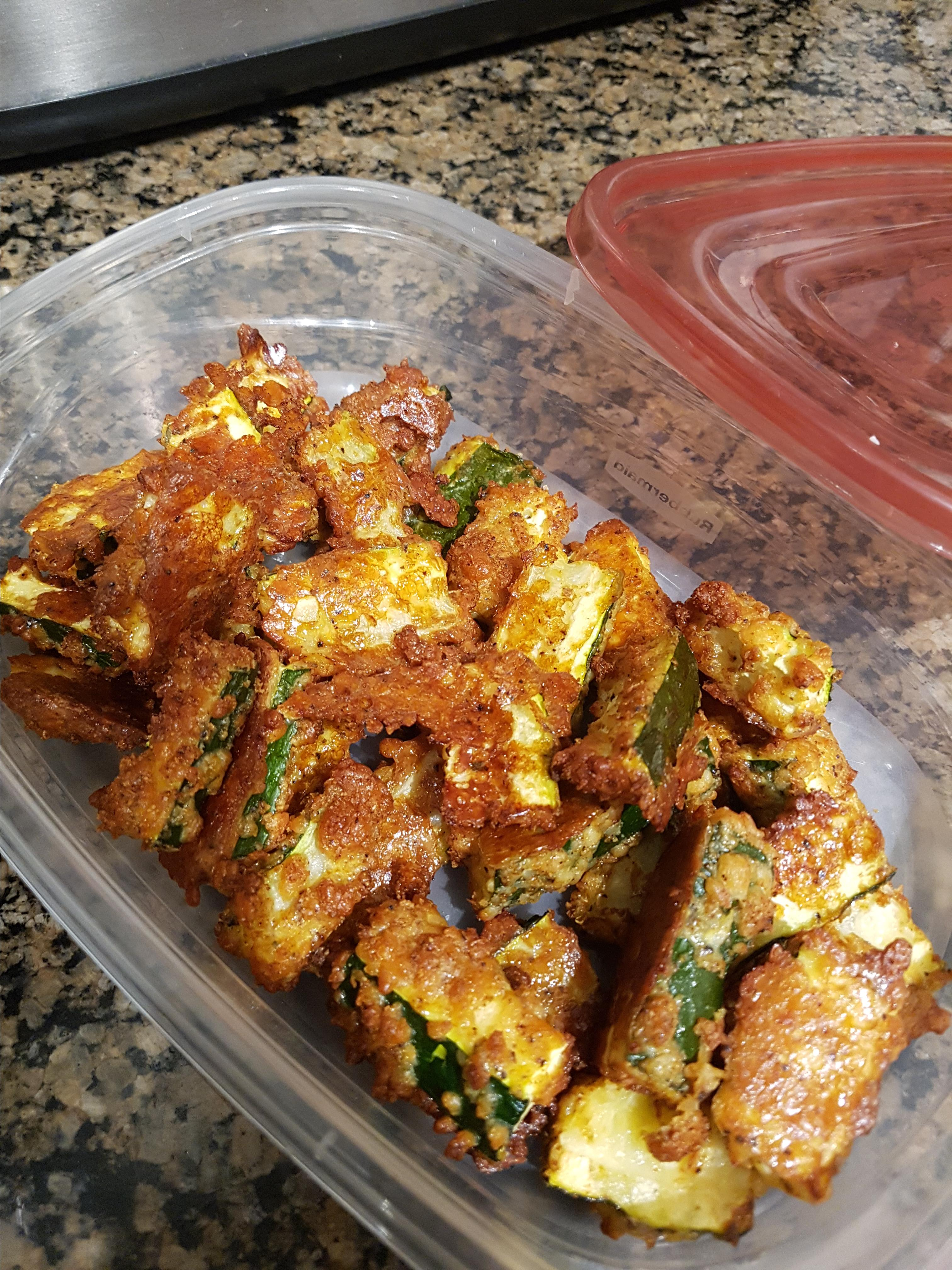 Quick and Easy Parmesan Zucchini Fries js_bug