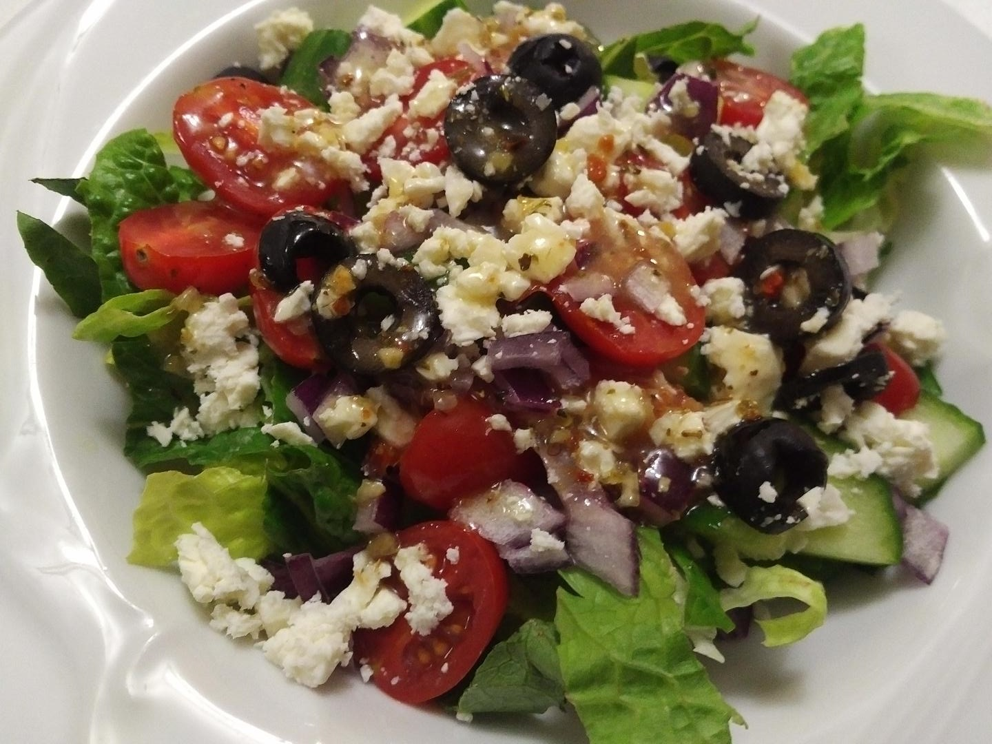 Good for You Greek Salad the4taals