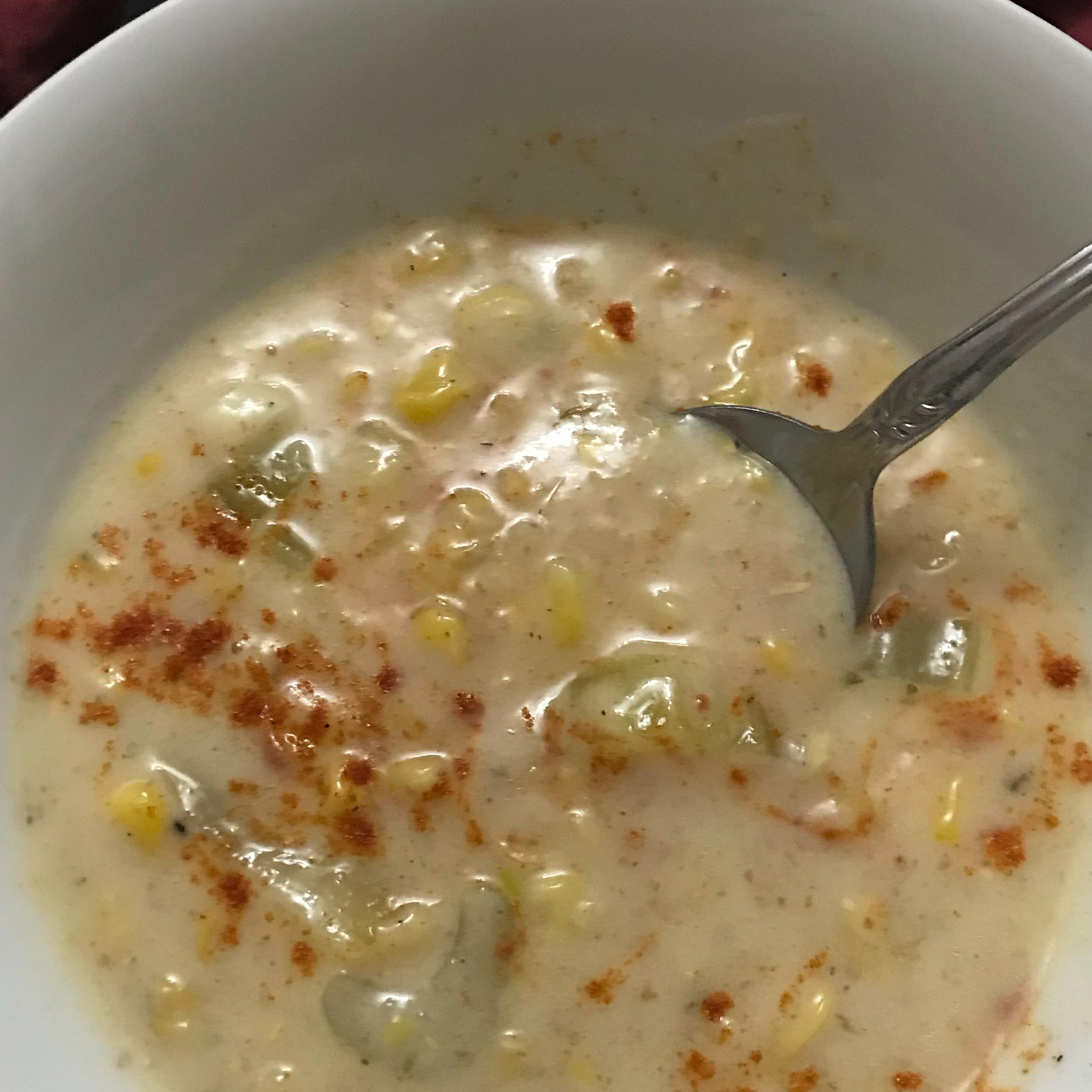 Easy Vegetarian Corn Chowder