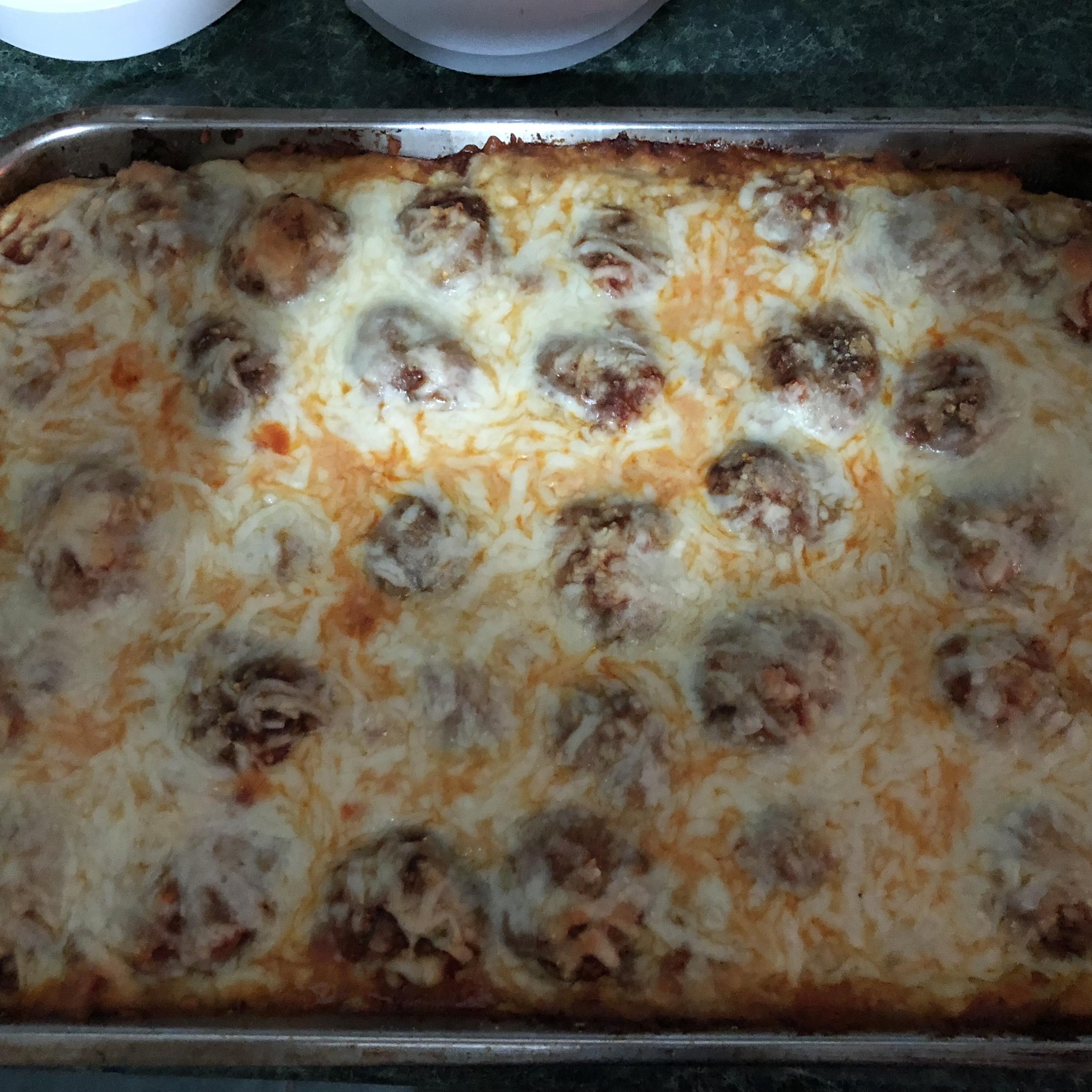 Italian Meatball Sandwich Casserole 9thawk