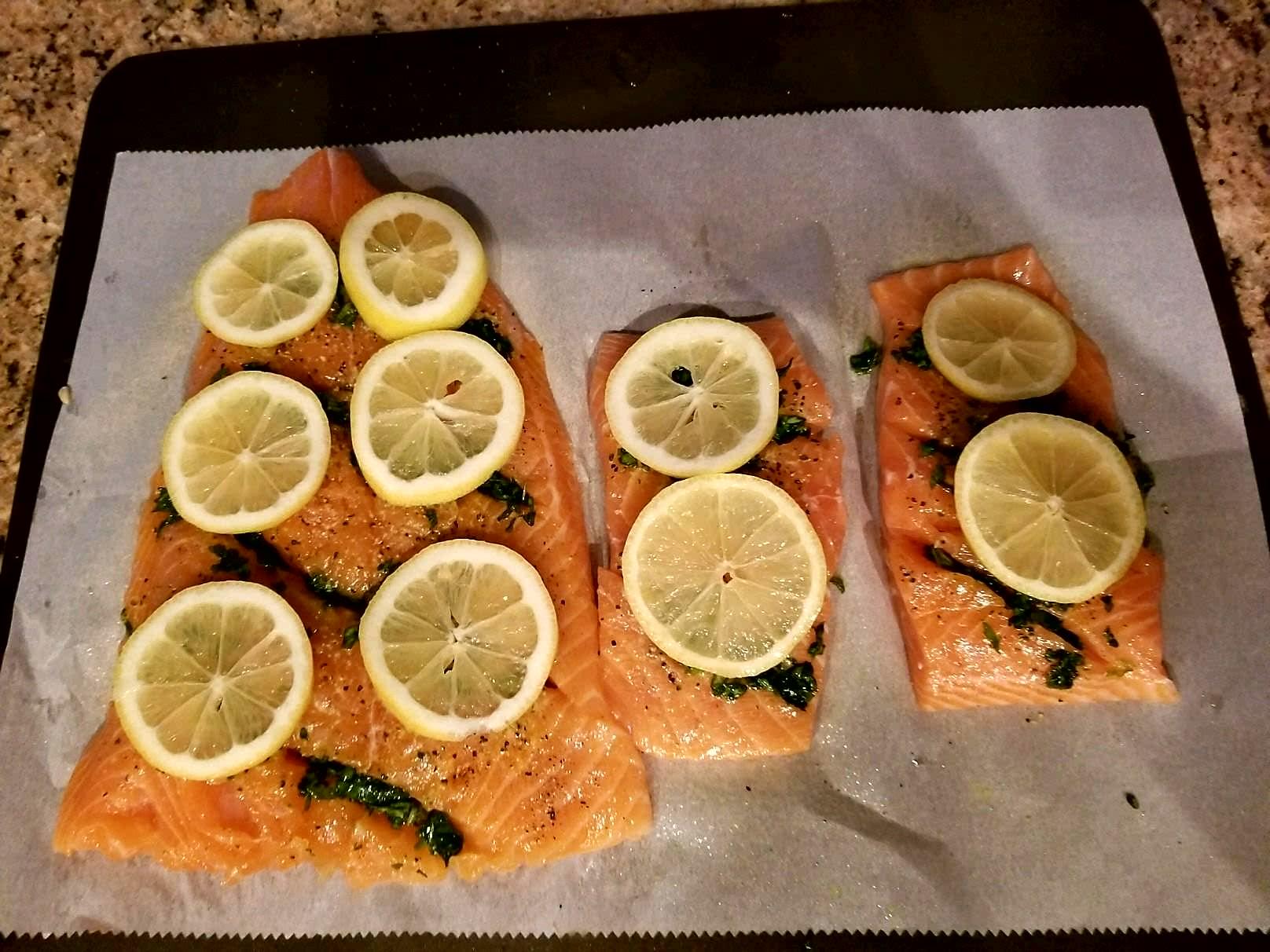 Parchment Baked Salmon