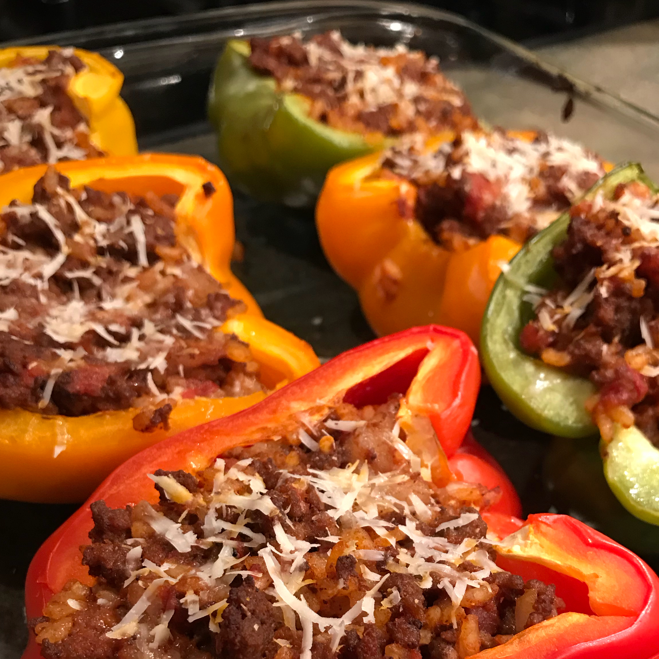 Bolognese Stuffed Bell Peppers Orchid