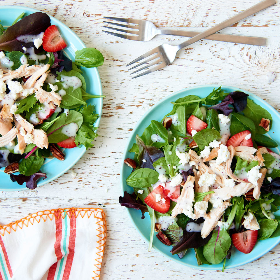 Strawberry Poppy Seed Salad with Chicken Trusted Brands