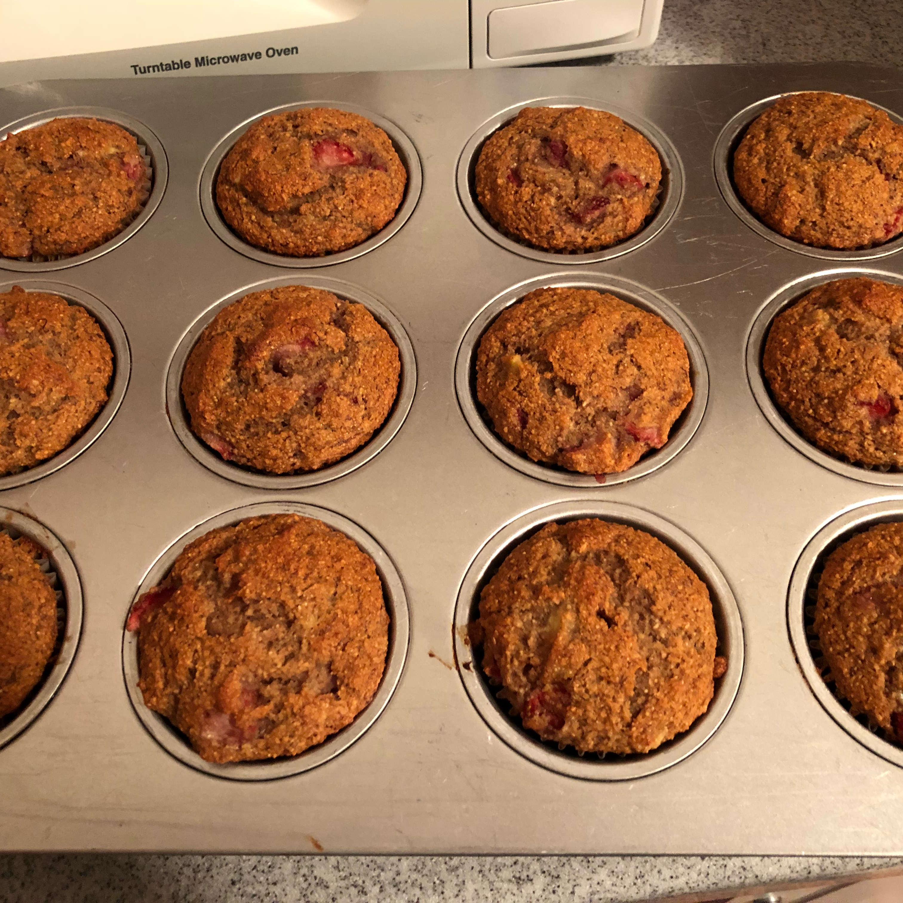 Healthy Strawberry Banana Muffins Audrey Shelor