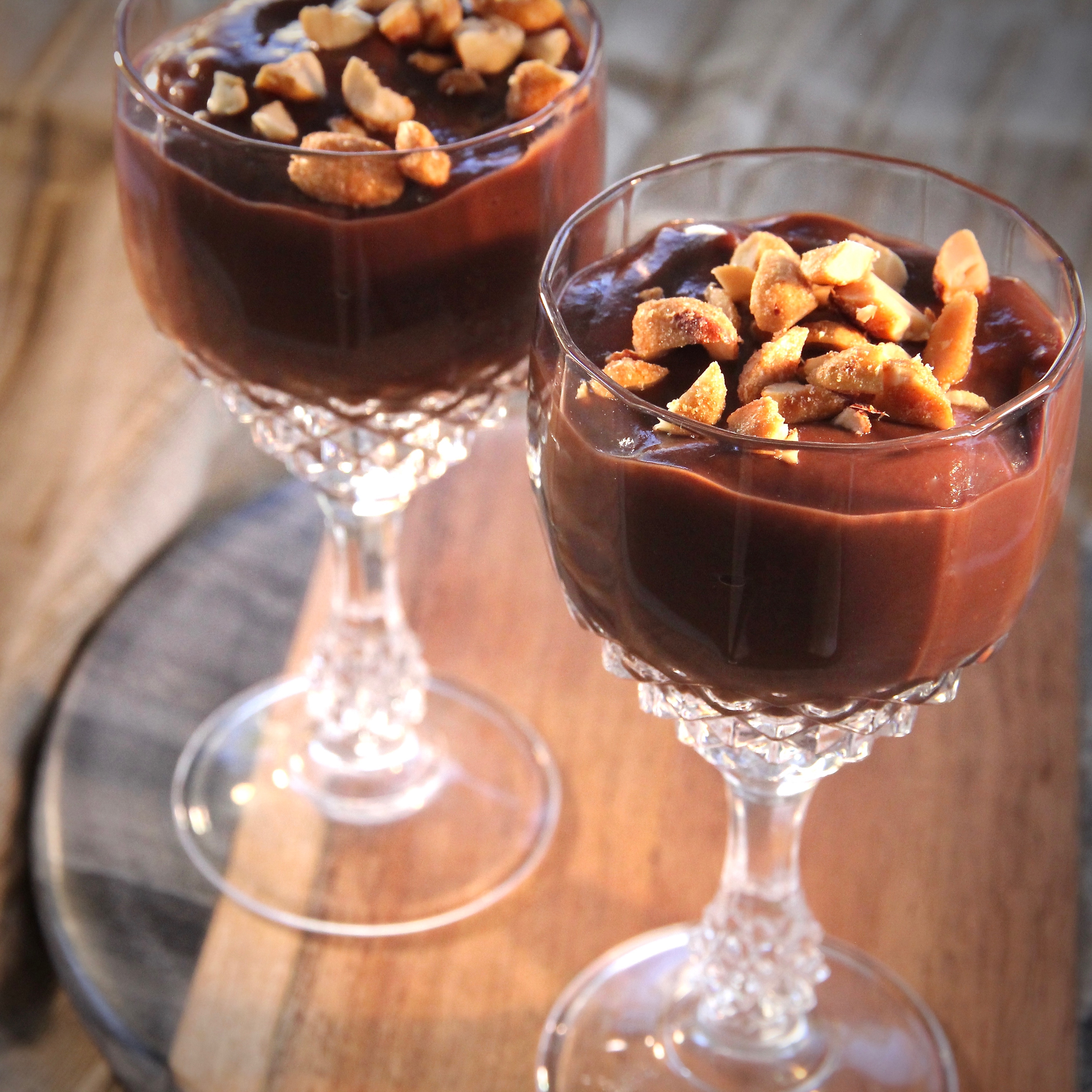 Chocolate Almond Pudding lutzflcat