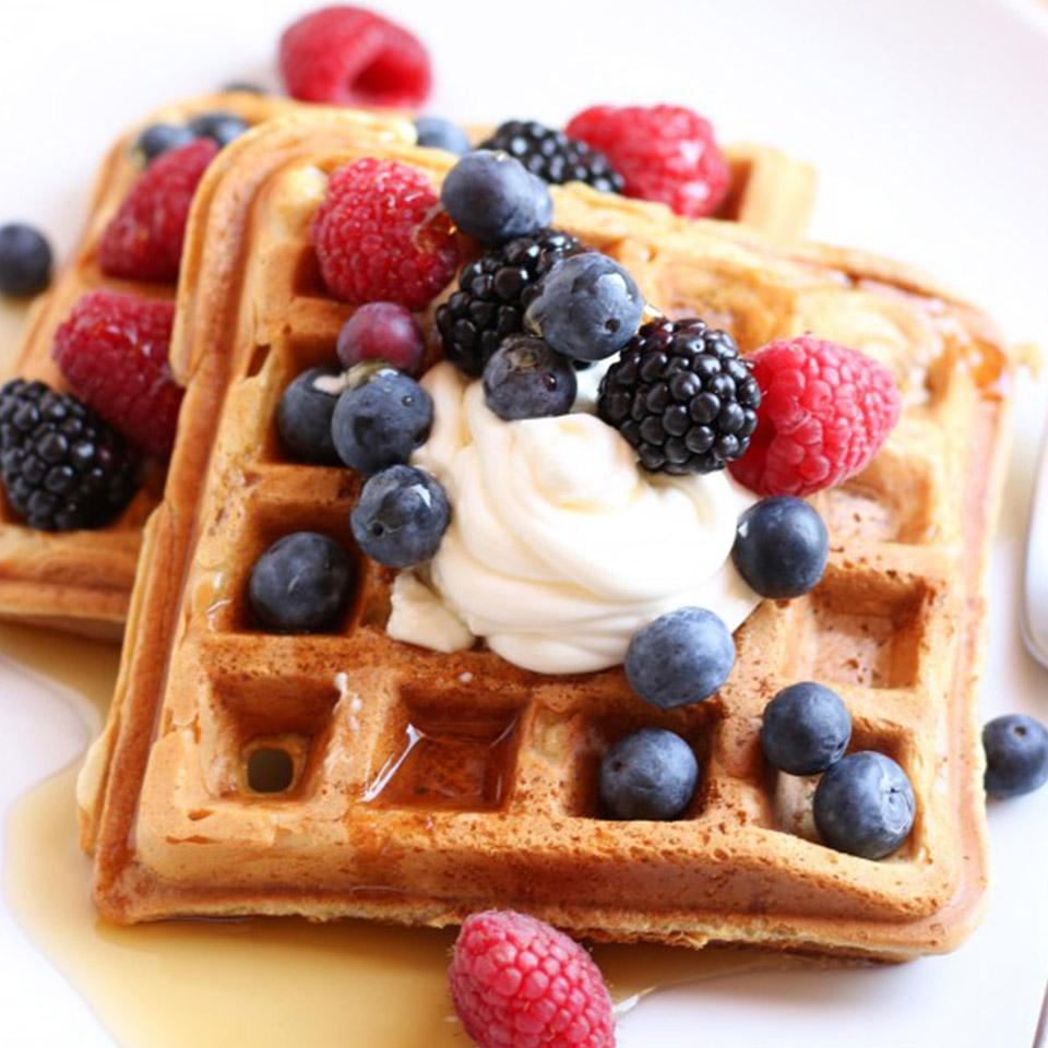 Fluffy Sour Cream Waffles