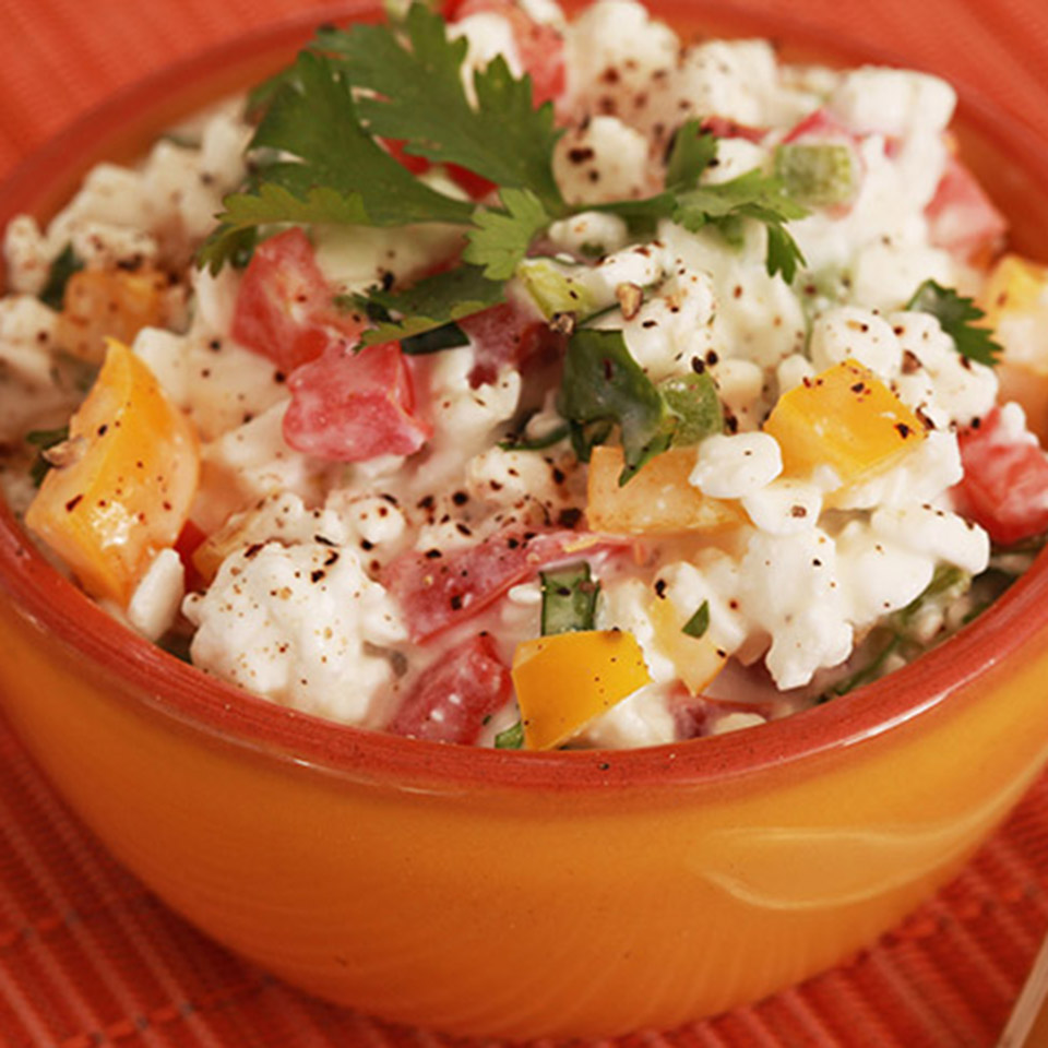 Fresh Salsa with Cottage Cheese