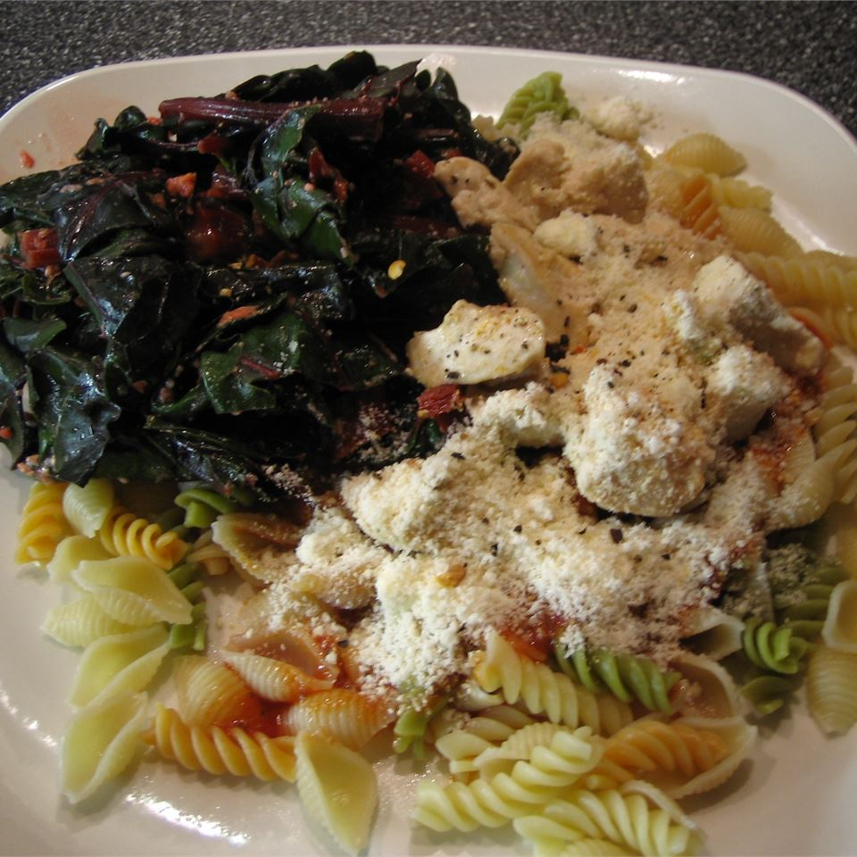 Sauteed Swiss Chard with Parmesan Cheese foxypowder