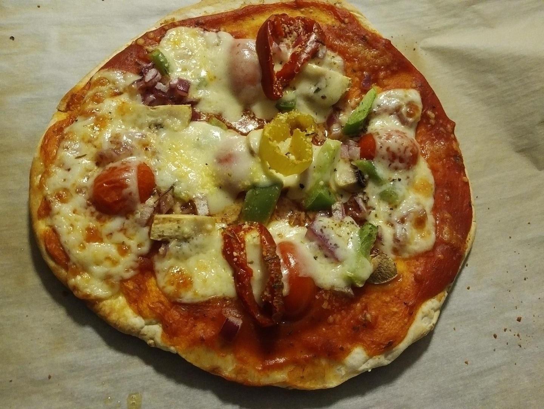 Naan Veggie Pizza the4taals